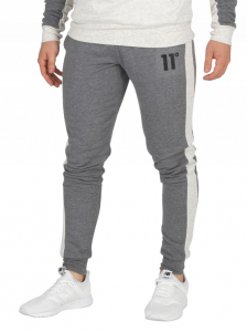 DEGREES CHARCOAL/SNOW MARL BLOCK SKINNY JOGGERS