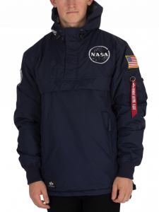 ALPHA INDUSTRIES REP BLUE NASA ANORAK JACKET