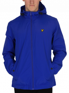 LYLE & SCOTT DUKE BLUE ZIP TOUGH HOODED JACKET