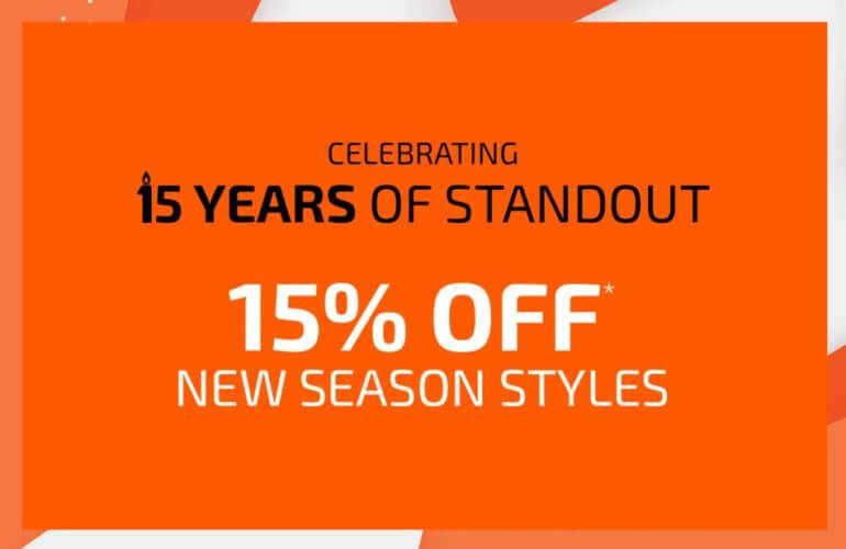 Standout's 15th Birthday Sale