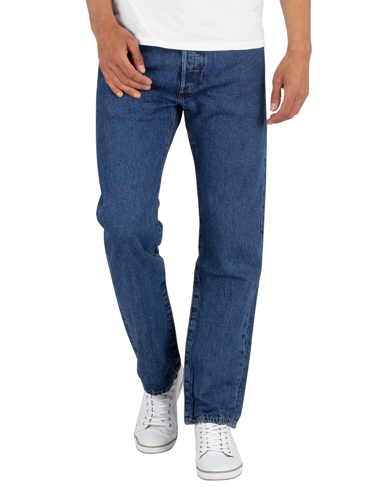 Levi's 501 Original Fit Denim Jeans - Stonewash   Standout