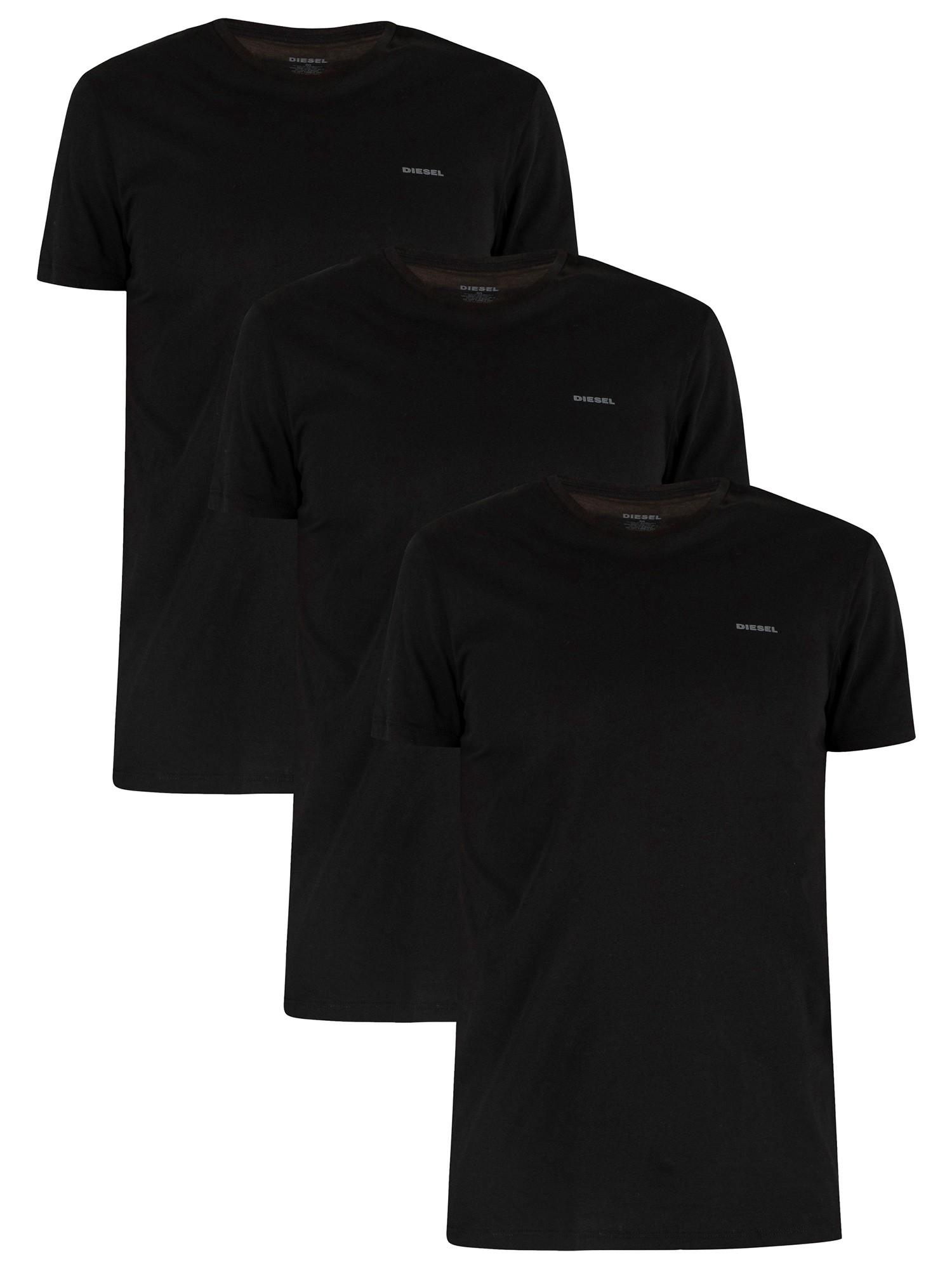 3 Pack Jake Plain Logo T-Shirts