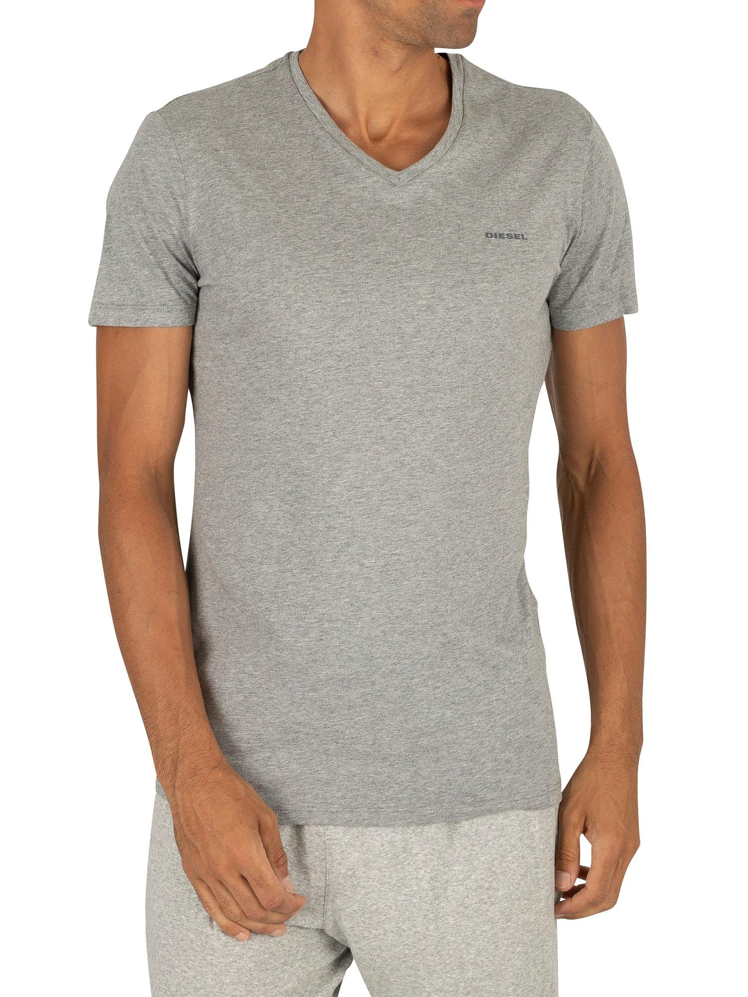 Diesel 3 Pack Jake Plain Logo V-Neck T-Shirts - White ...