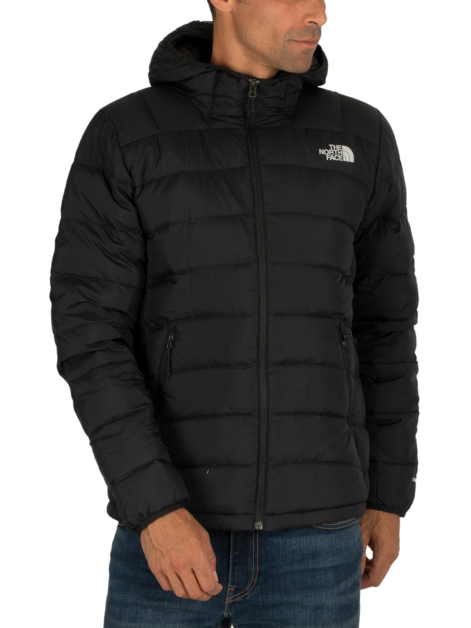 best authentic shopping genuine shoes The North Face Paz Hooded Logo Puffa Jacket - Black   Standout