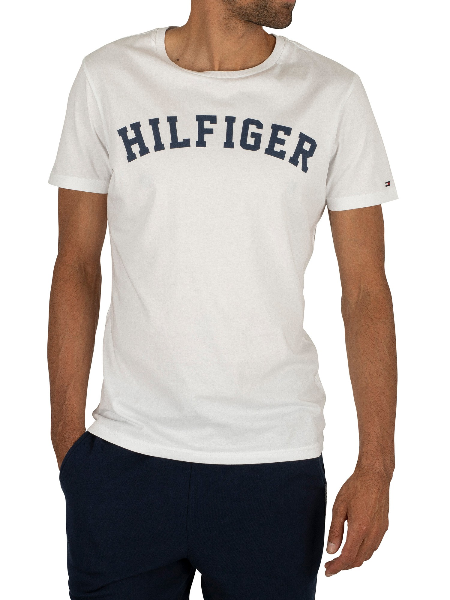 Hilfiger Denim Men's Original V Neck Short Sleeve T Shirt, Tommy Black, Large