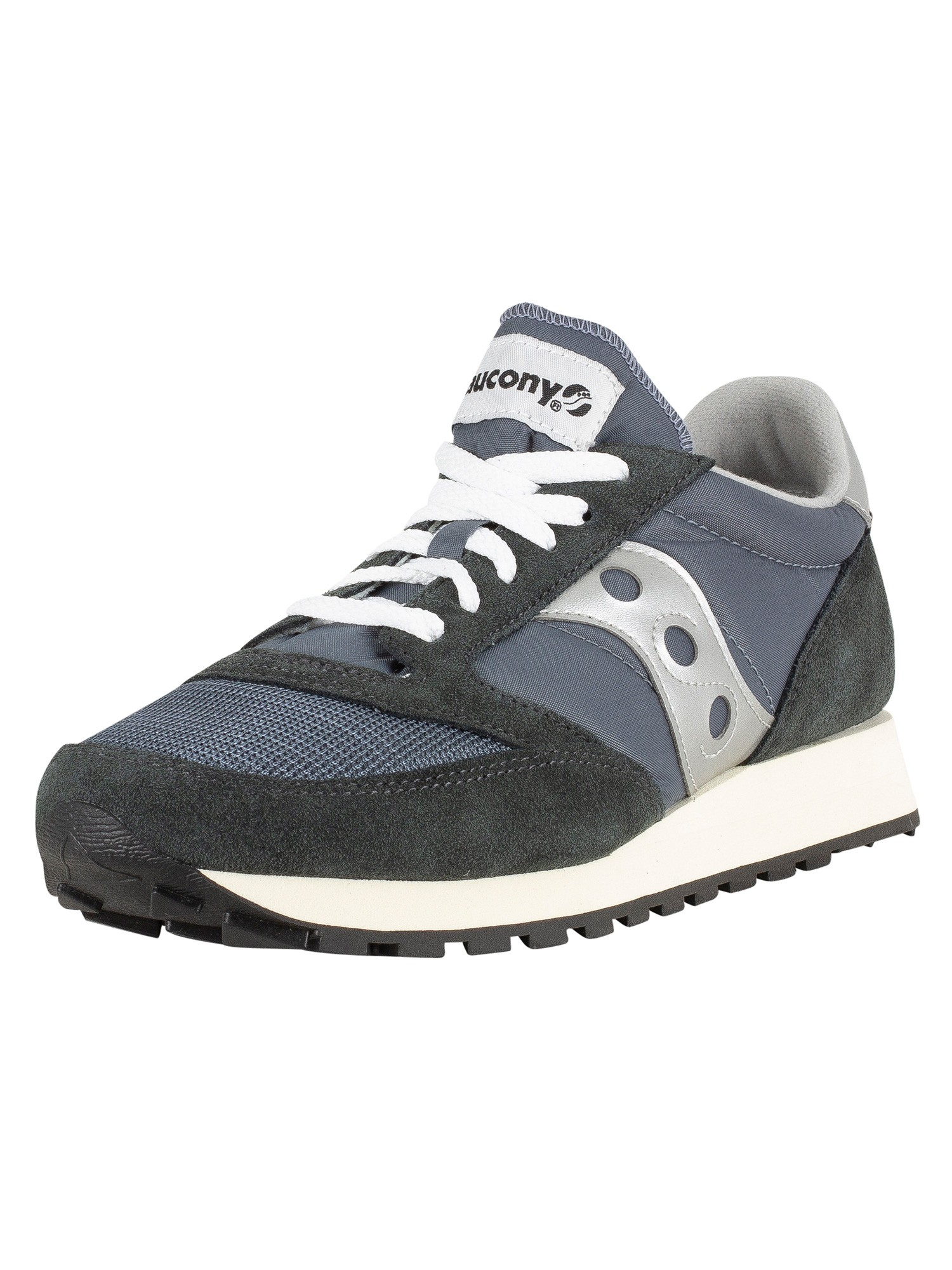 official photos 29eeb d07eb Saucony Jazz Original Vintage Trainers - Blue/Navy/Silver