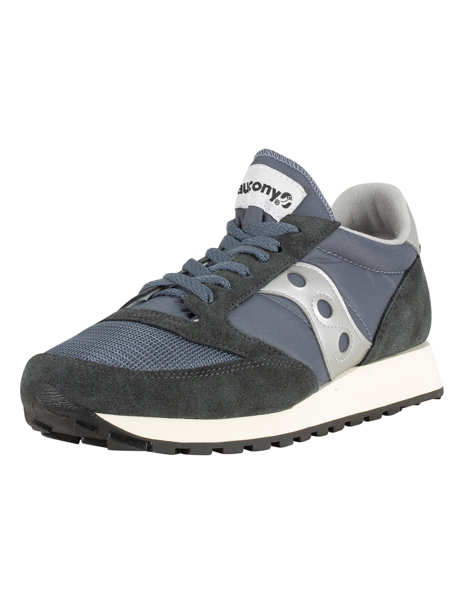 official photos d7ba9 769ef Saucony Jazz Original Vintage Trainers - Blue/Navy/Silver