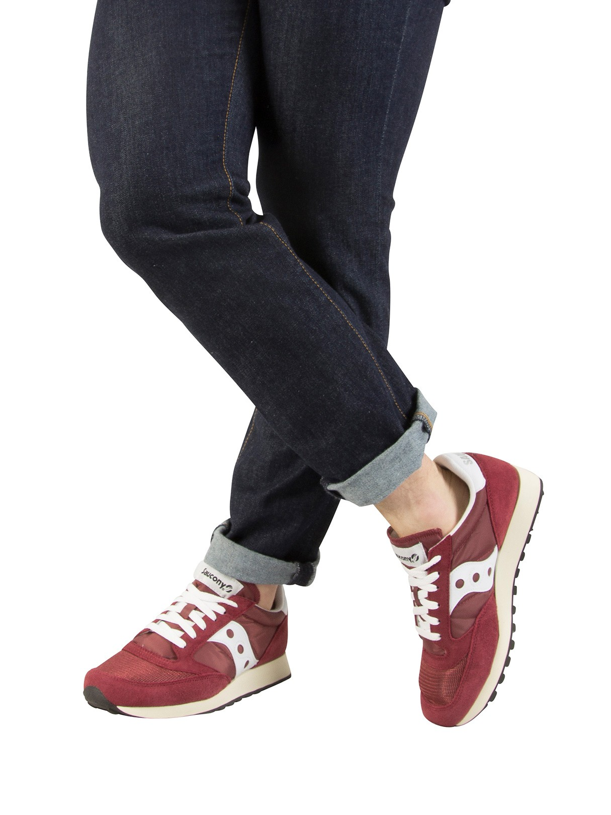 the best attitude 1a6ba 13ca8 Saucony Jazz Original Vintage Trainers - Burgundy/White
