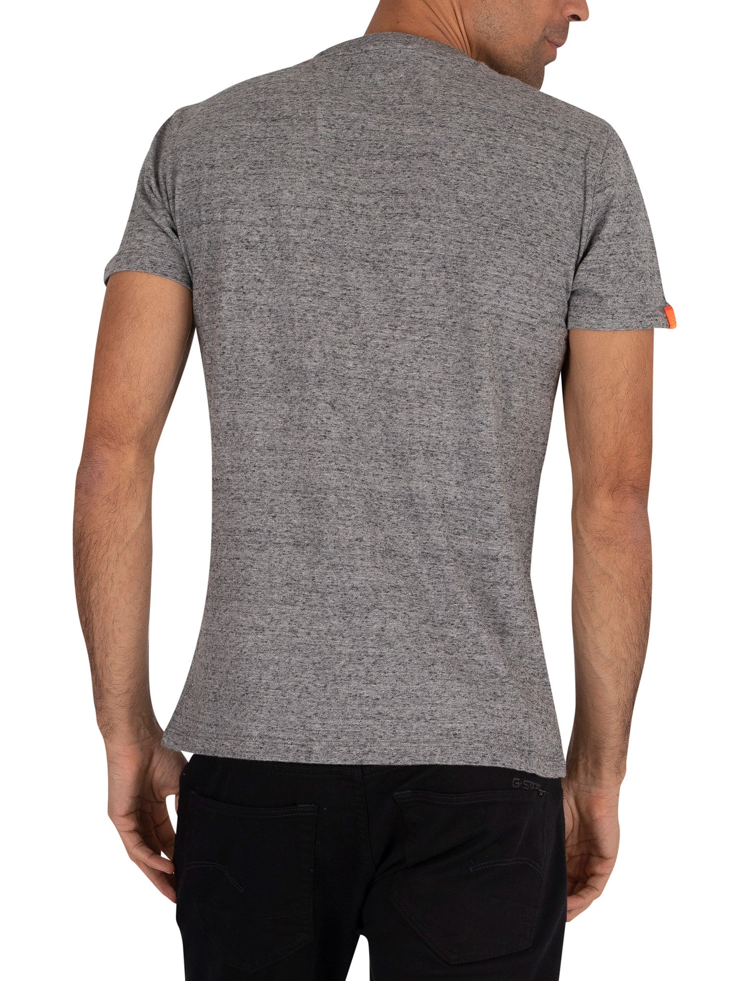 Superdry Orange Label Vintage EMB T-Shirt - Flint Steel Grit