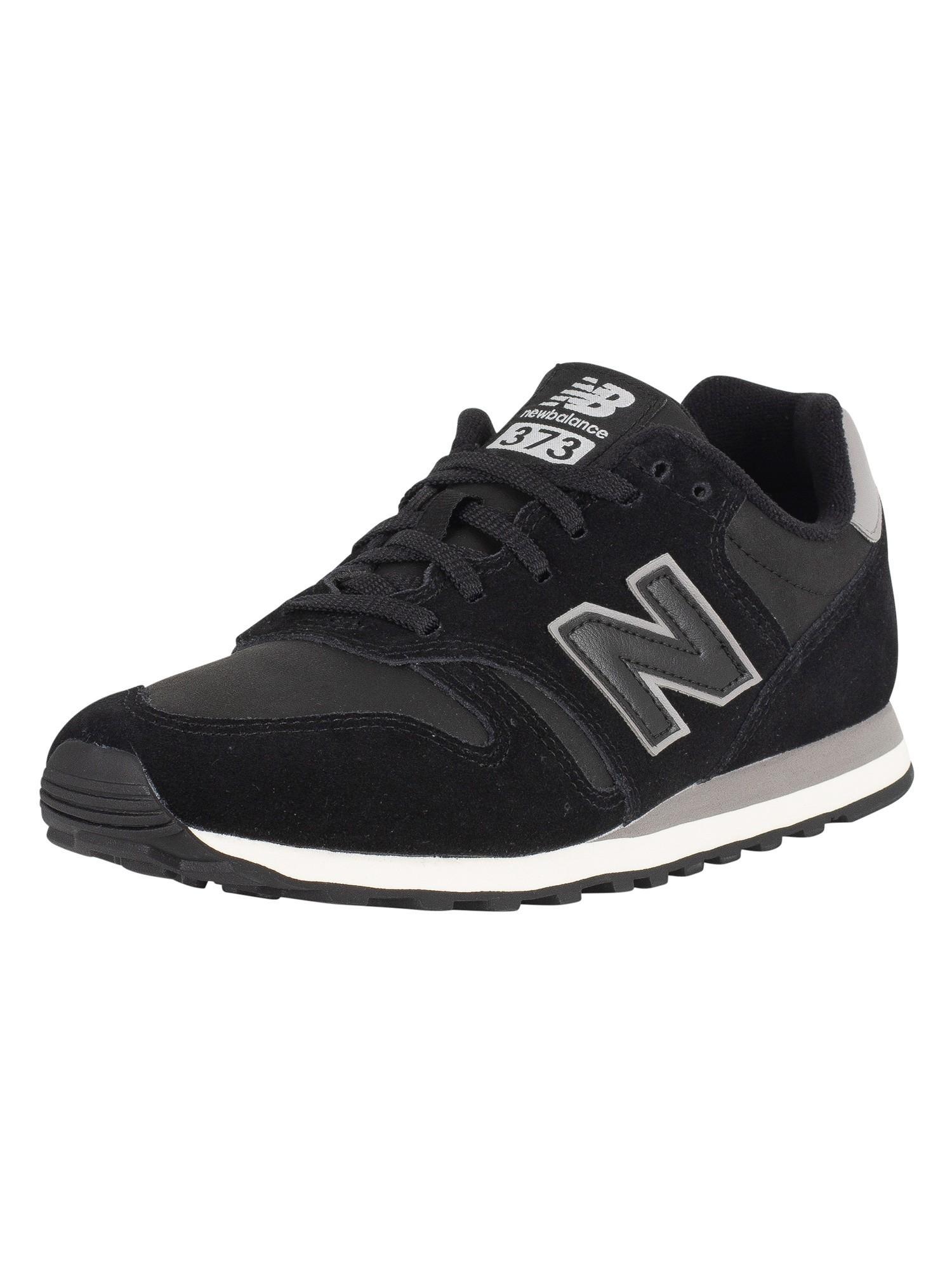 san francisco c10fe 98683 New Balance 373 Suede Trainers - Black/Grey