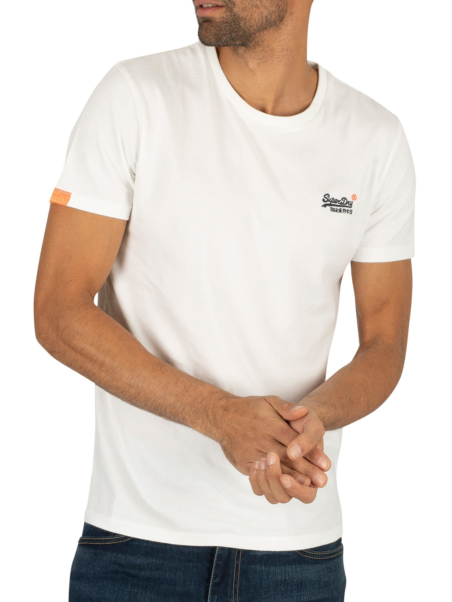 Superdry Orange Label Vintage EMB T-Shirt - Optic White