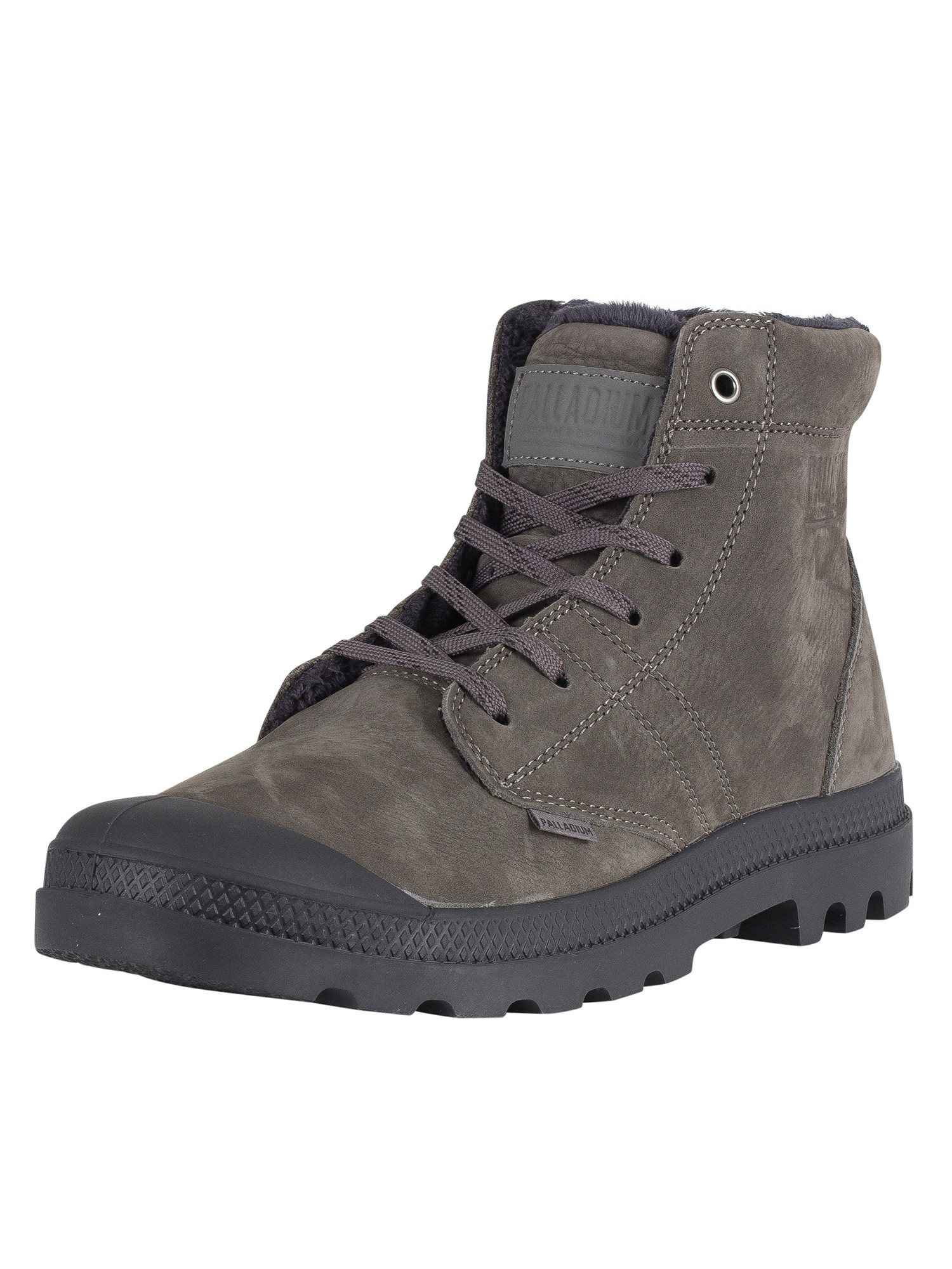 Palladium Pallabrousse LT Leather Boots - Gull Gray/Athracite