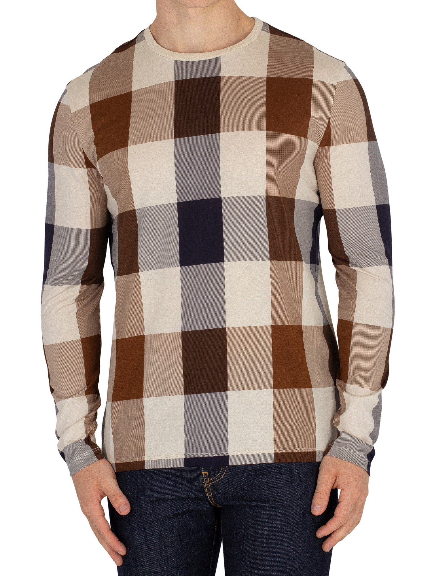 classic shoes fast delivery limited guantity Aquascutum Jed Longsleeved T-shirt - Vicuna
