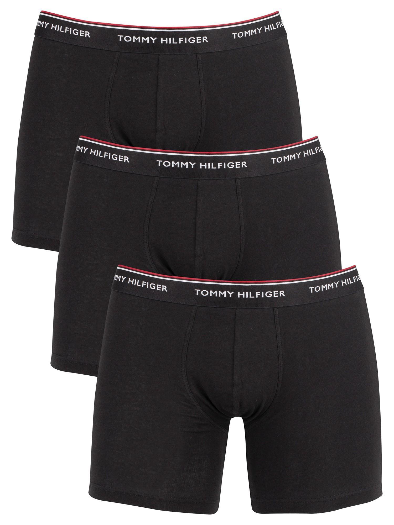 Tommy Hilfiger Men/'s 3 Pack Premium Essentials Boxer Briefs Black