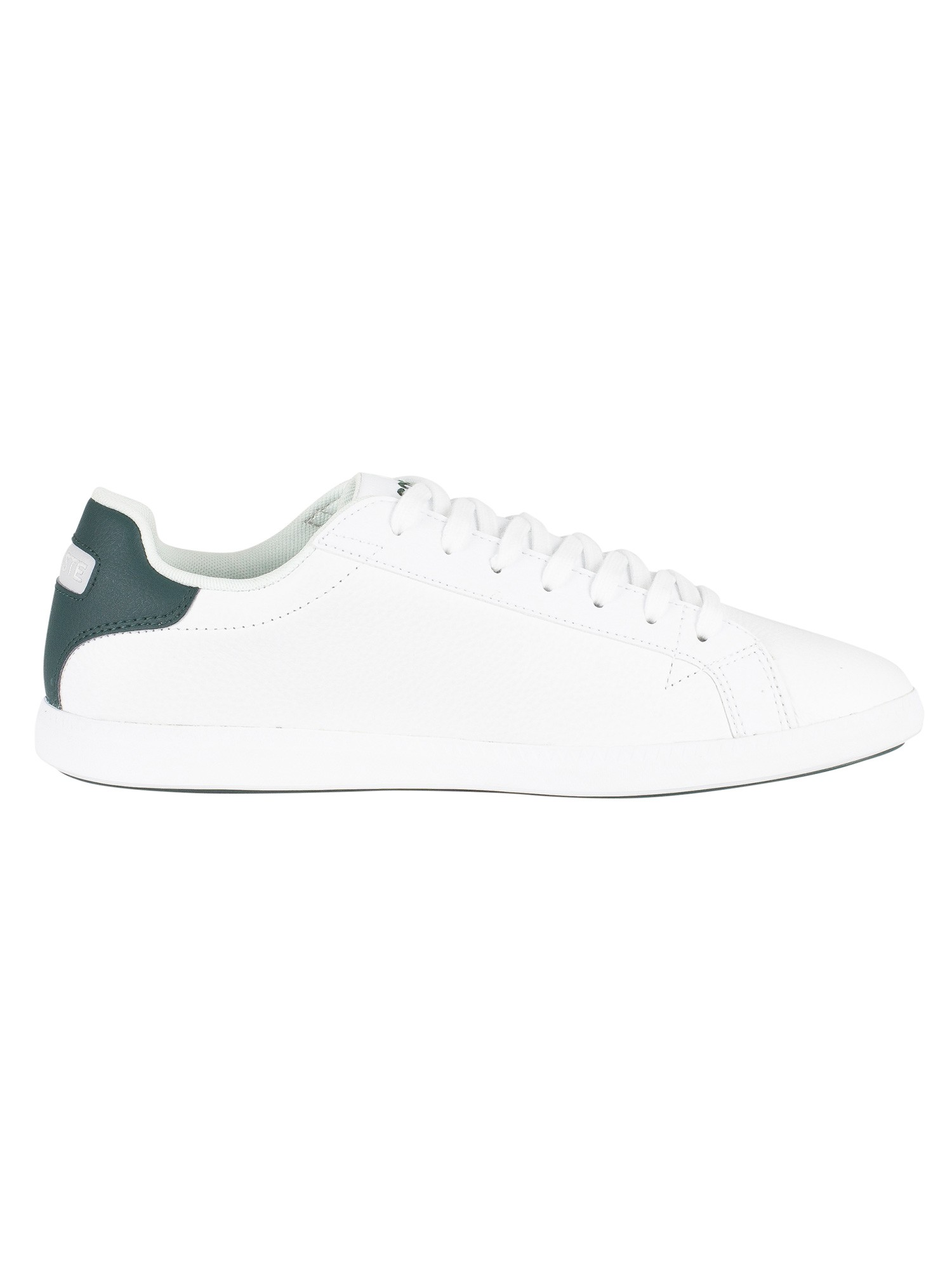 Lacoste Graduate LCR3 118 1 SPM Leather Trainers - White/Dark Green