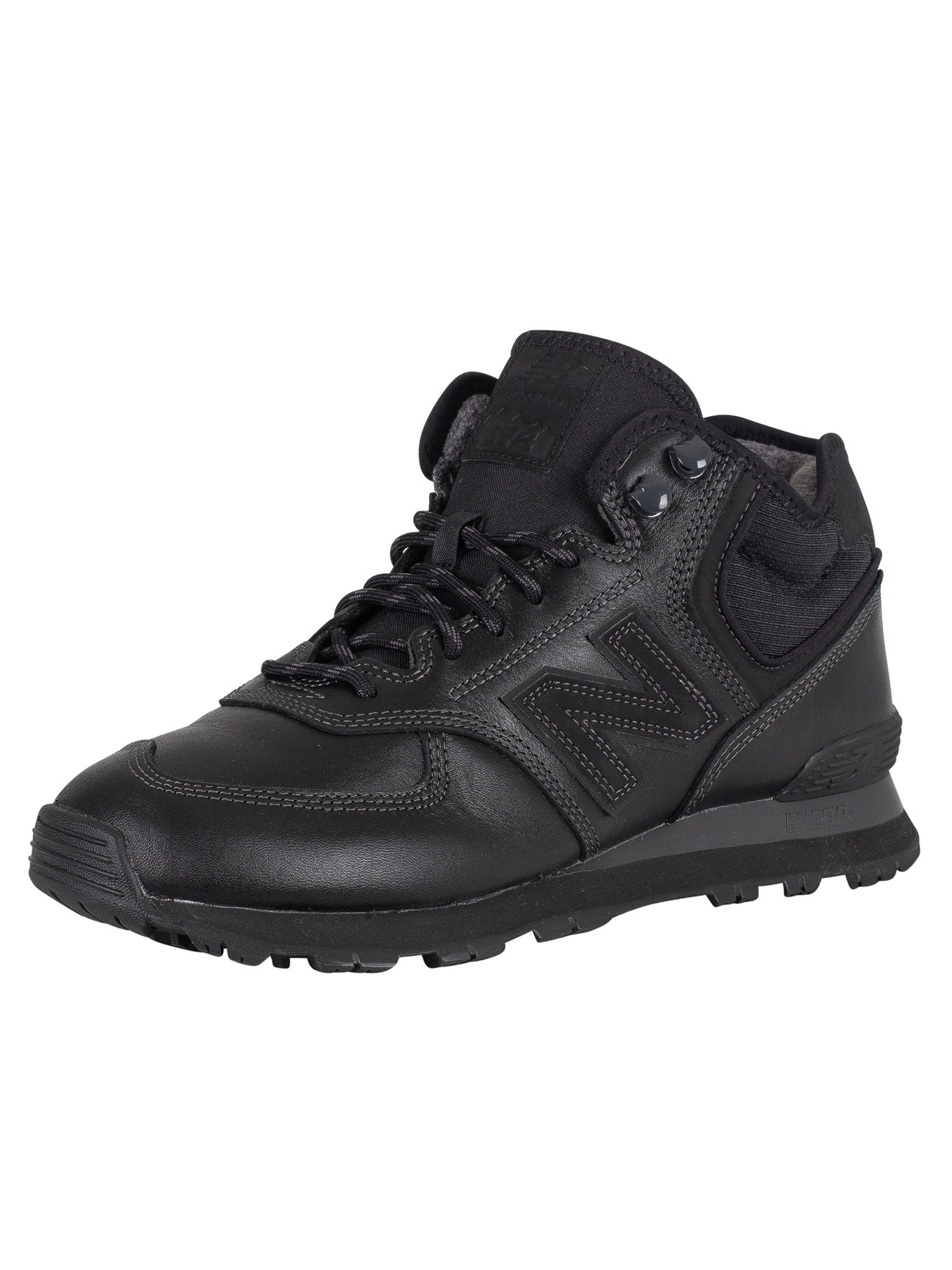 New Balance 574 Leather Boots - Black