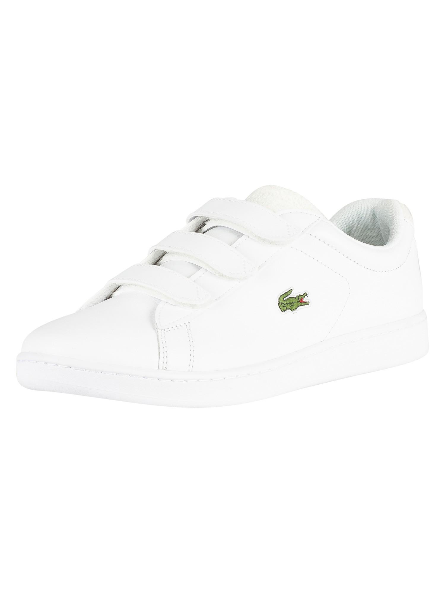 przytulnie świeże najlepszy dostawca najniższa zniżka Lacoste Carnaby Evo Strap 119 3 SMA Leather Trainers - White/Off White