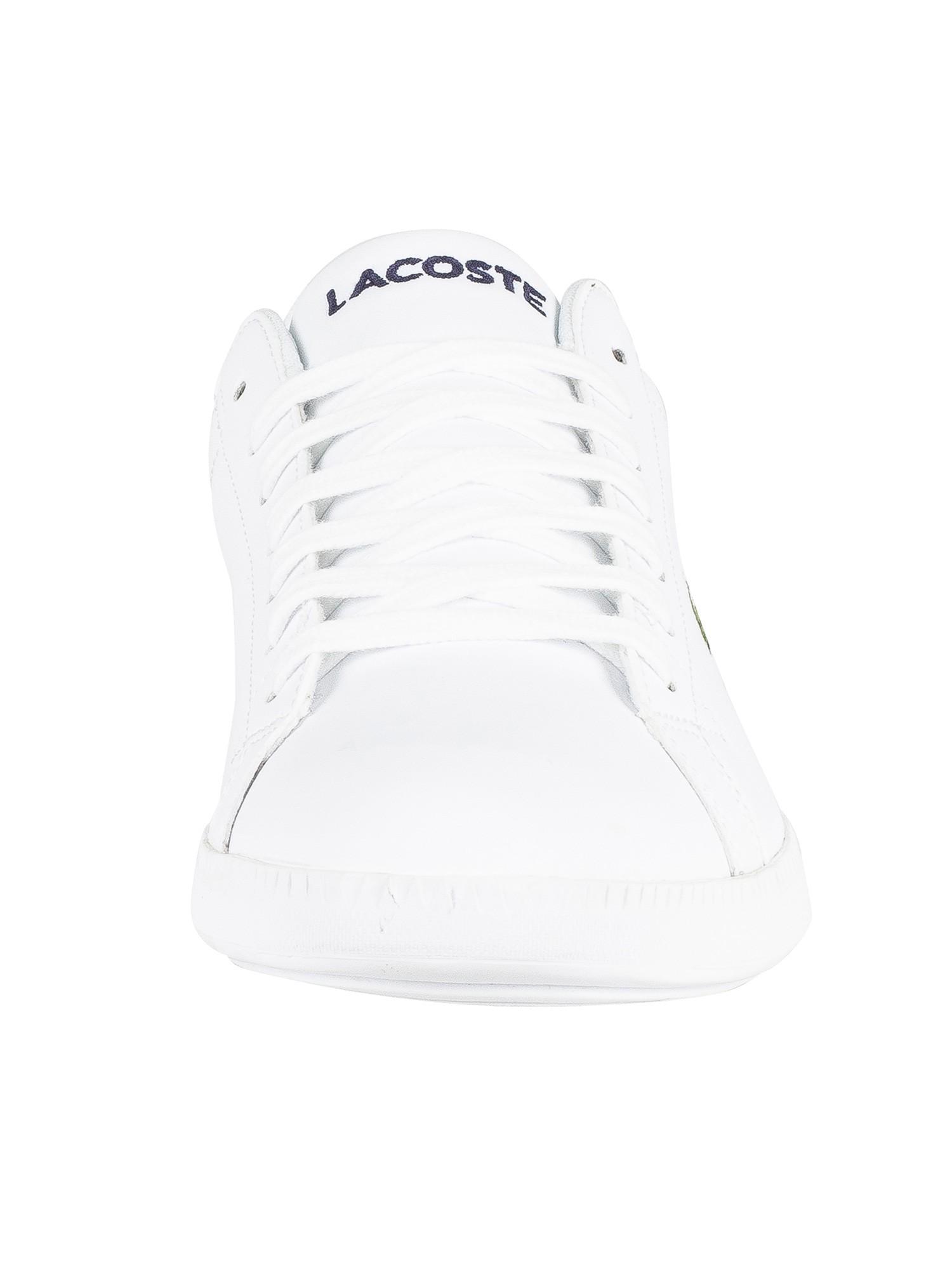 Lacoste Men/'s Graduate BL 1 Leather Trainers White