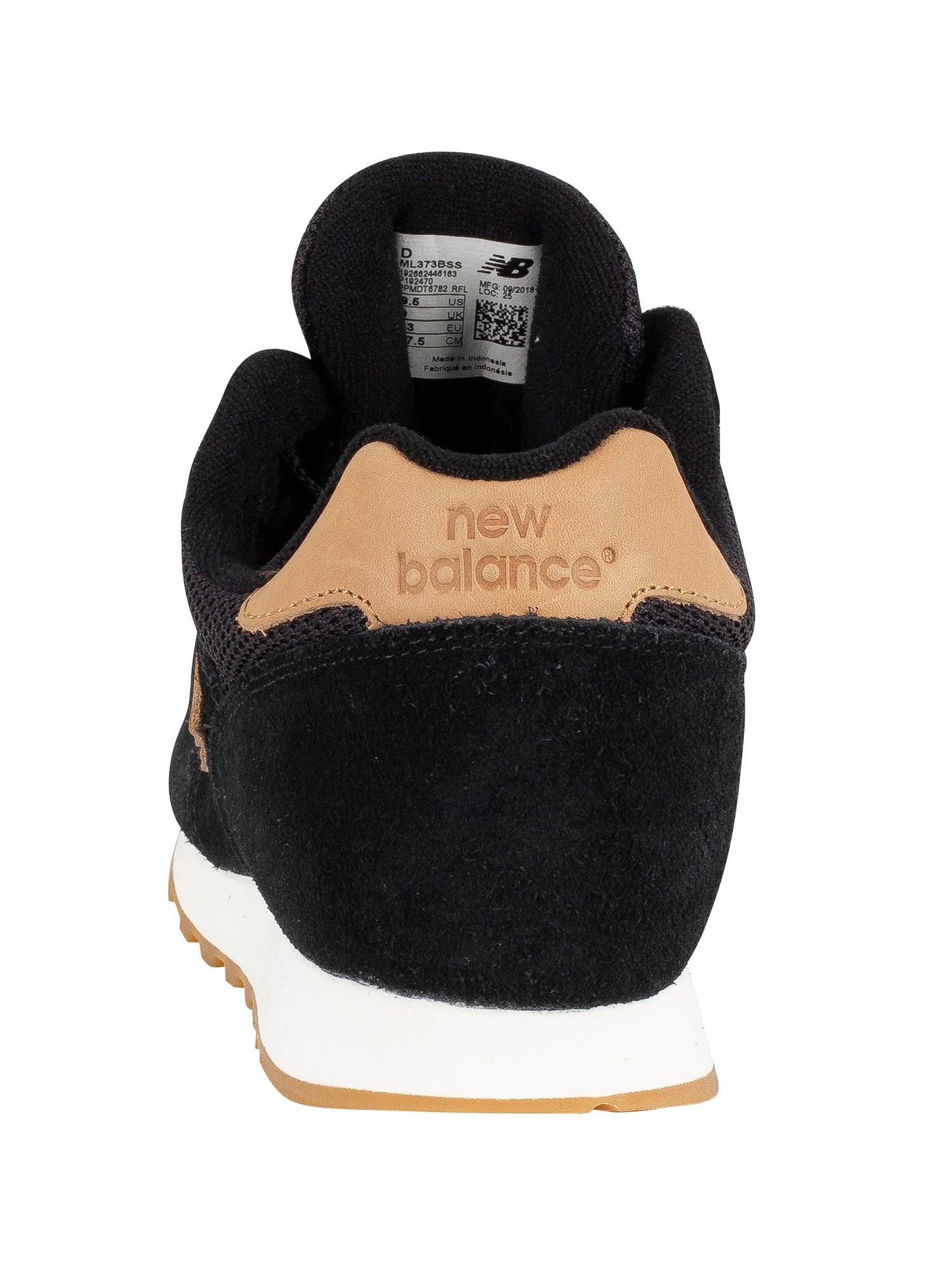 wholesale dealer 6b163 0fb1c New Balance 373 Suede Trainers - Black/Tan
