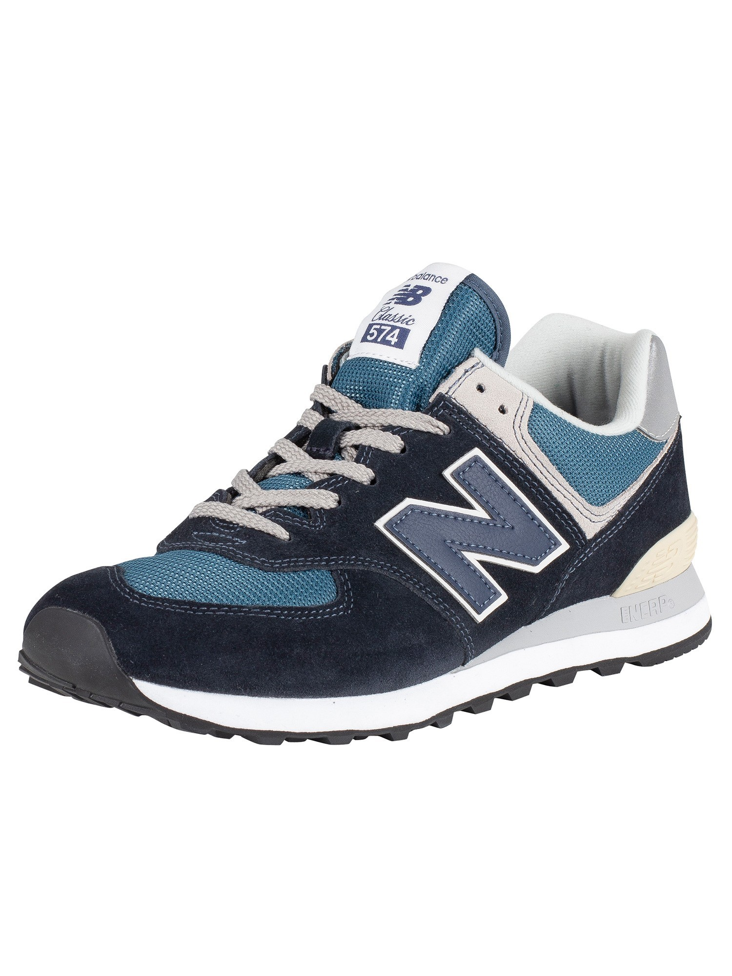 official photos f6b3d 17bde New Balance 574 Suede Trainers - Black/Blue