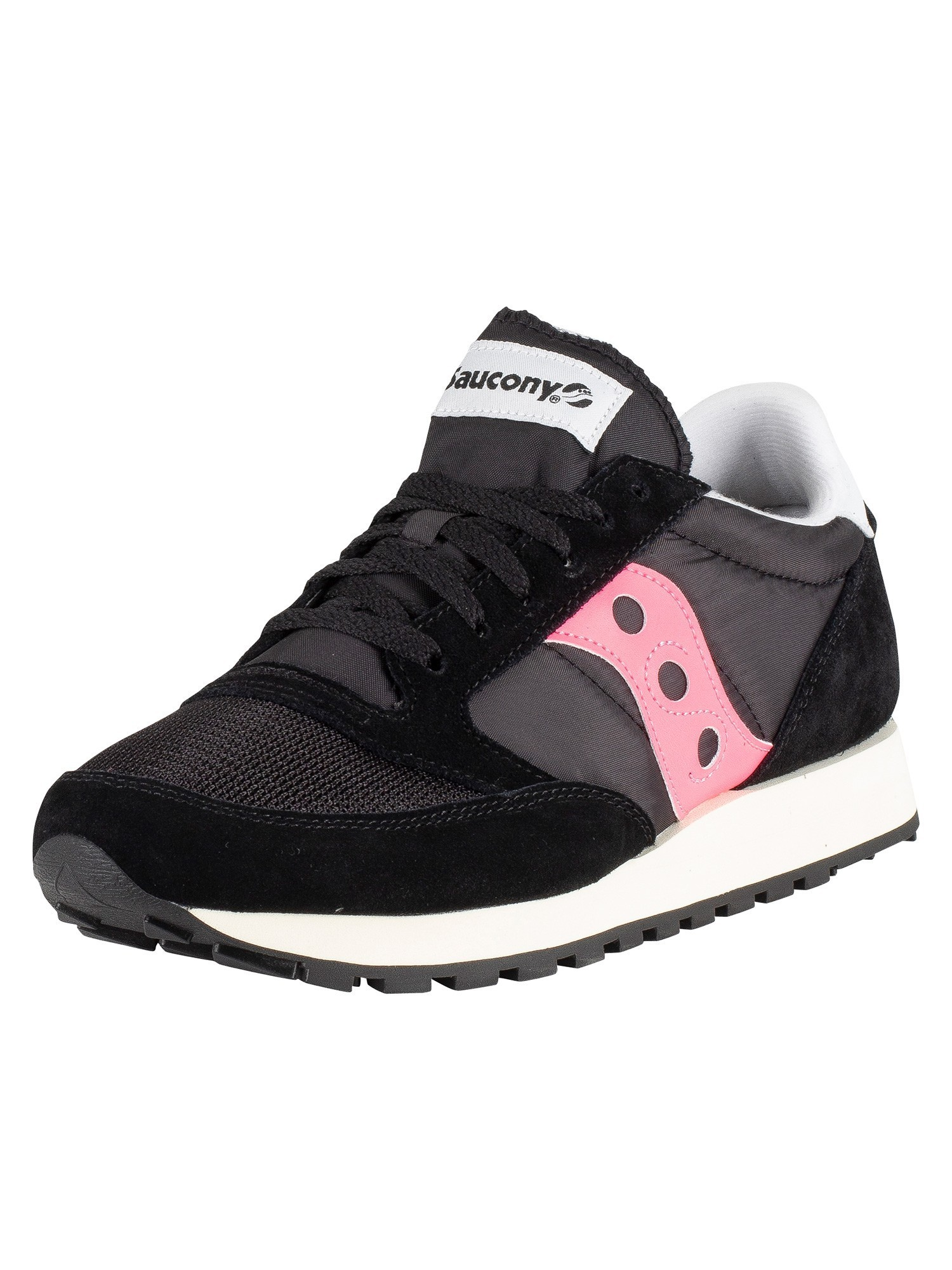competitive price 27f74 11b41 Saucony Jazz Original Vintage Trainers - Black/Pink