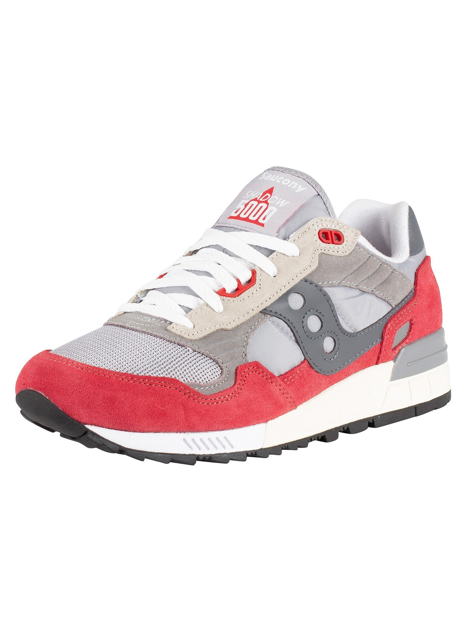 meet 840d4 0272a Saucony Shadow 5000 Vintage Trainers - Grey/Red