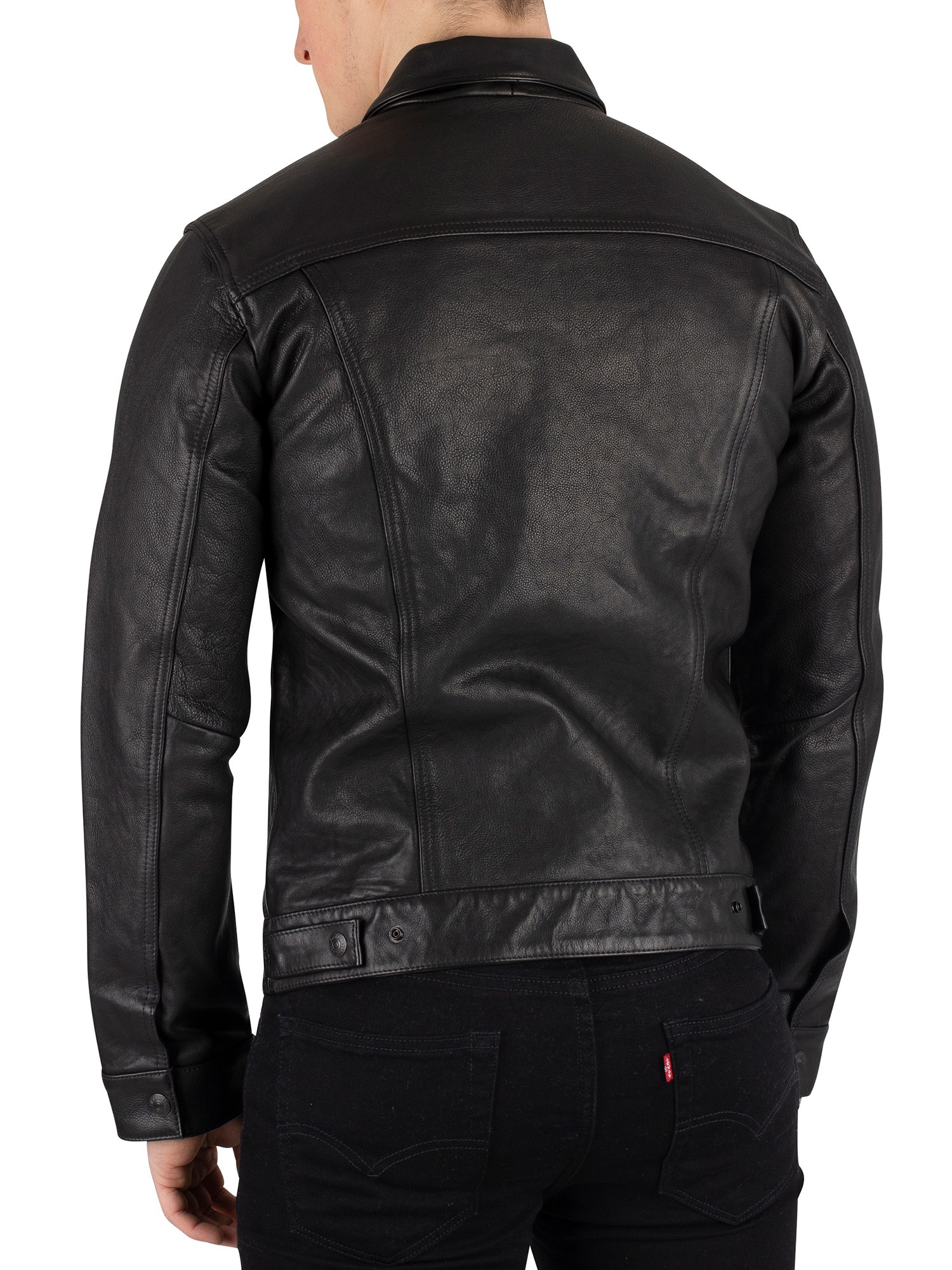 Levi's Leather Trucker Jacket - Type 3 Black