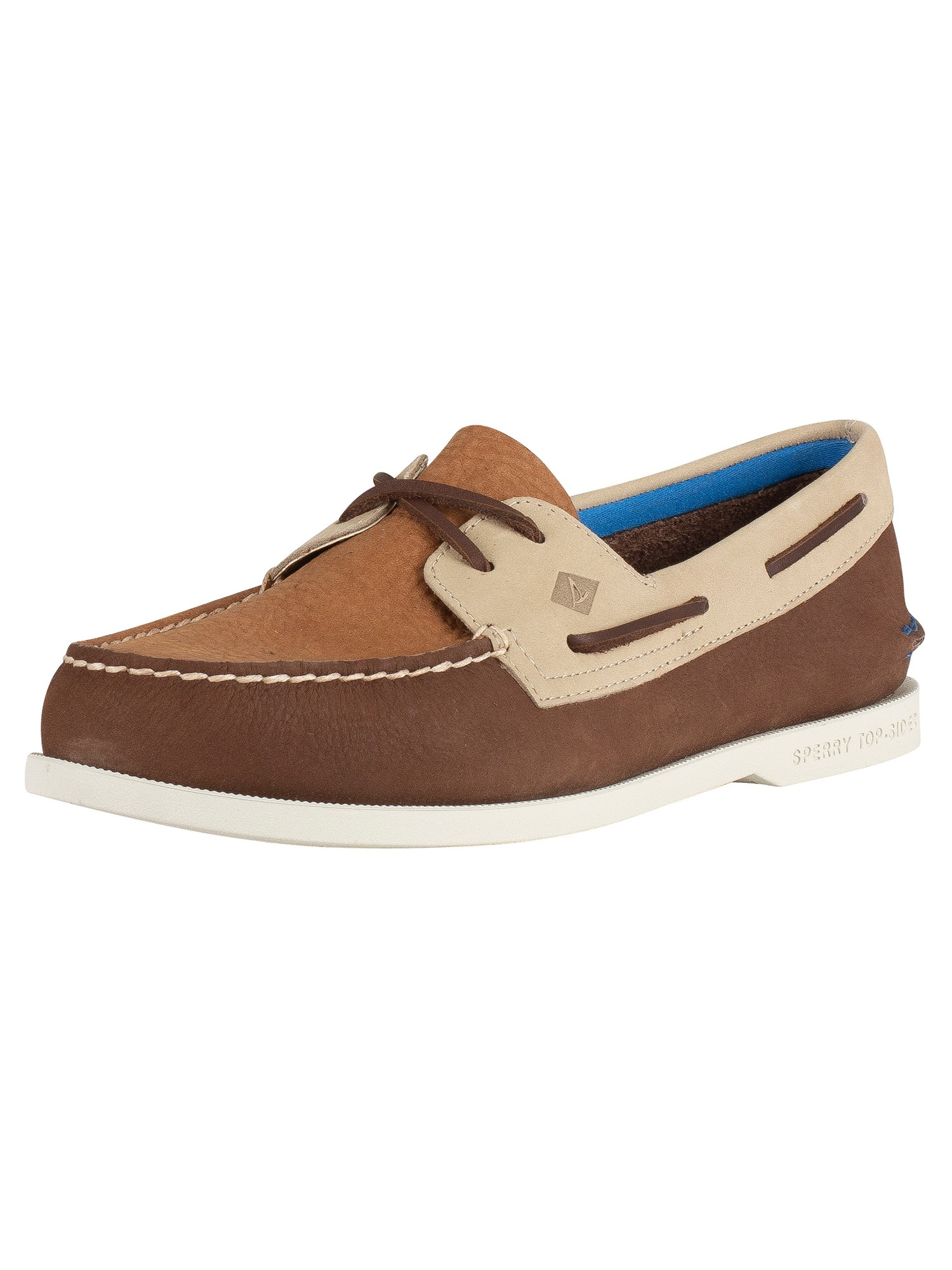 Sperry Top Sider AO 2 Eye Plush Washable Boat Shoes Brown Tan