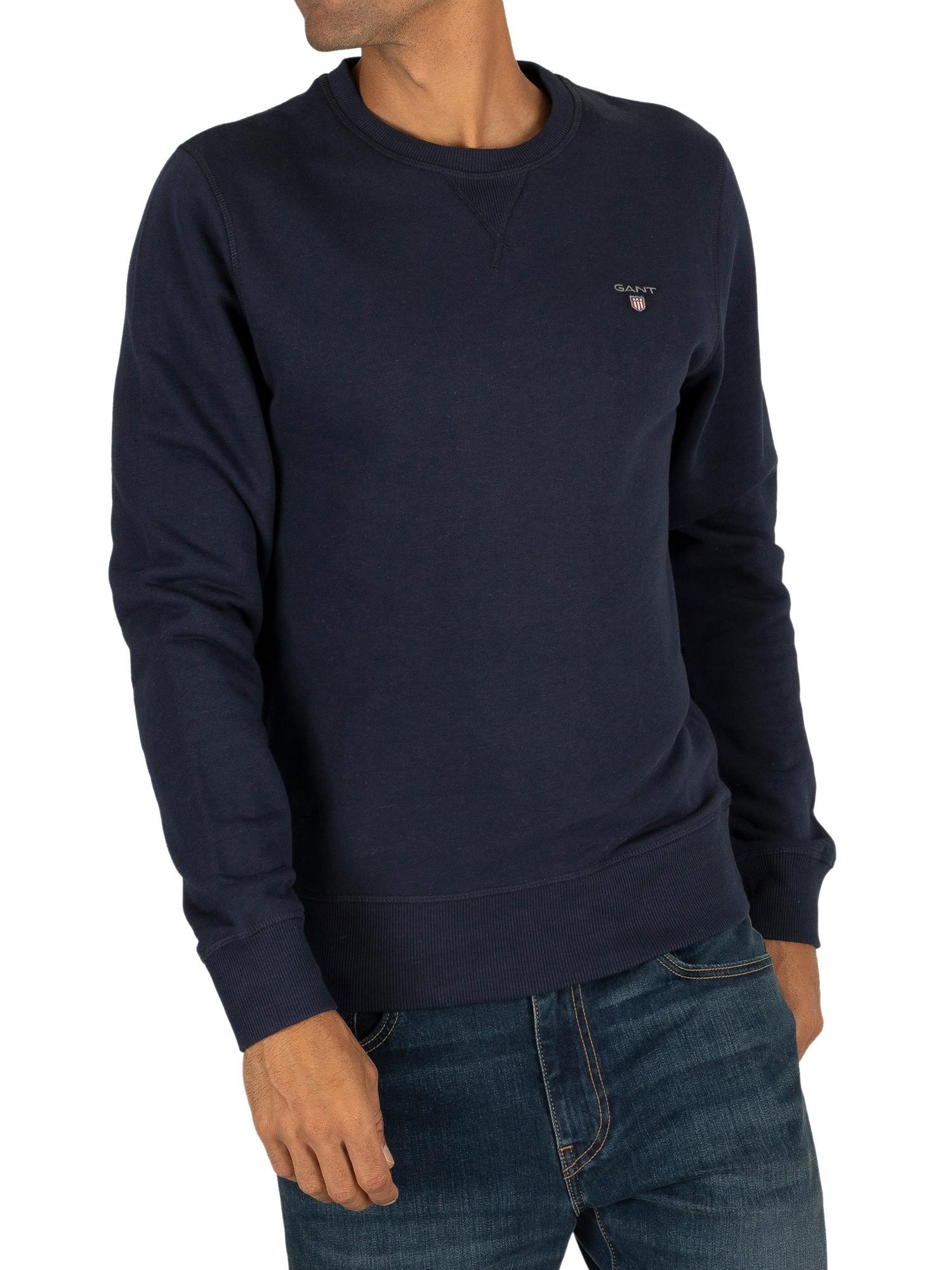 Details zu GANT Herren Ursprüngliches Sweatshirt, Blau