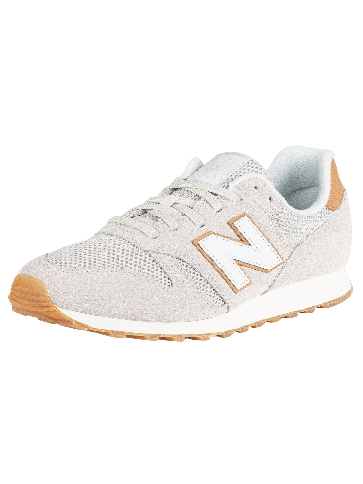 official photos ed076 3061d New Balance 373 Suede Trainers - Beige/Tan