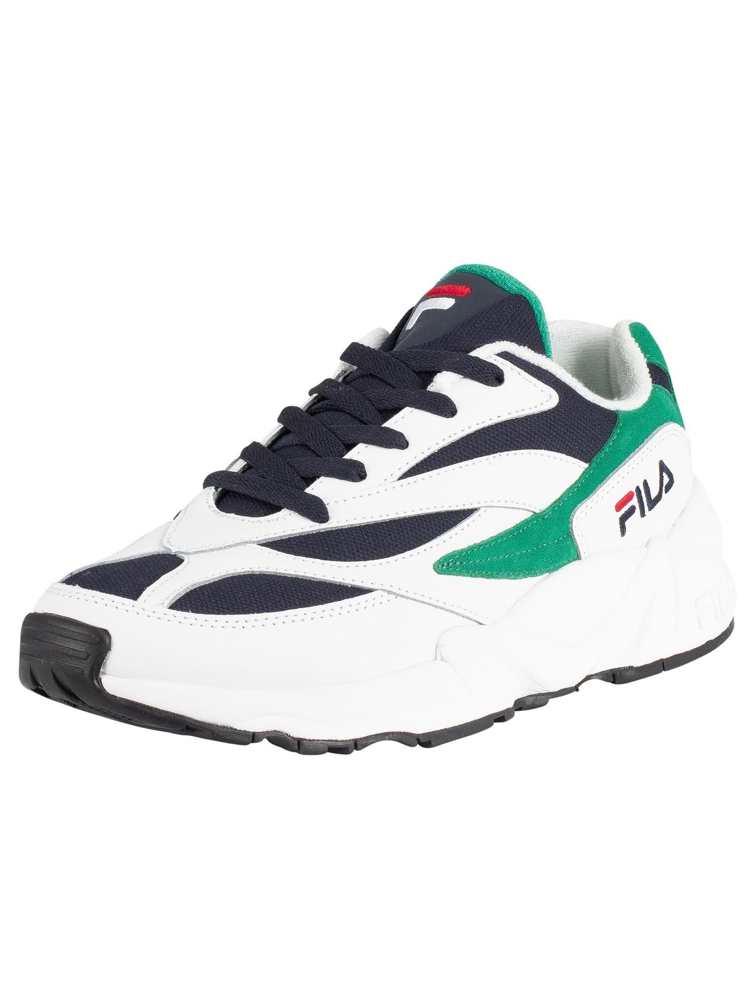 Fila V94M Low Trainers - White/Navy/Shady Glade