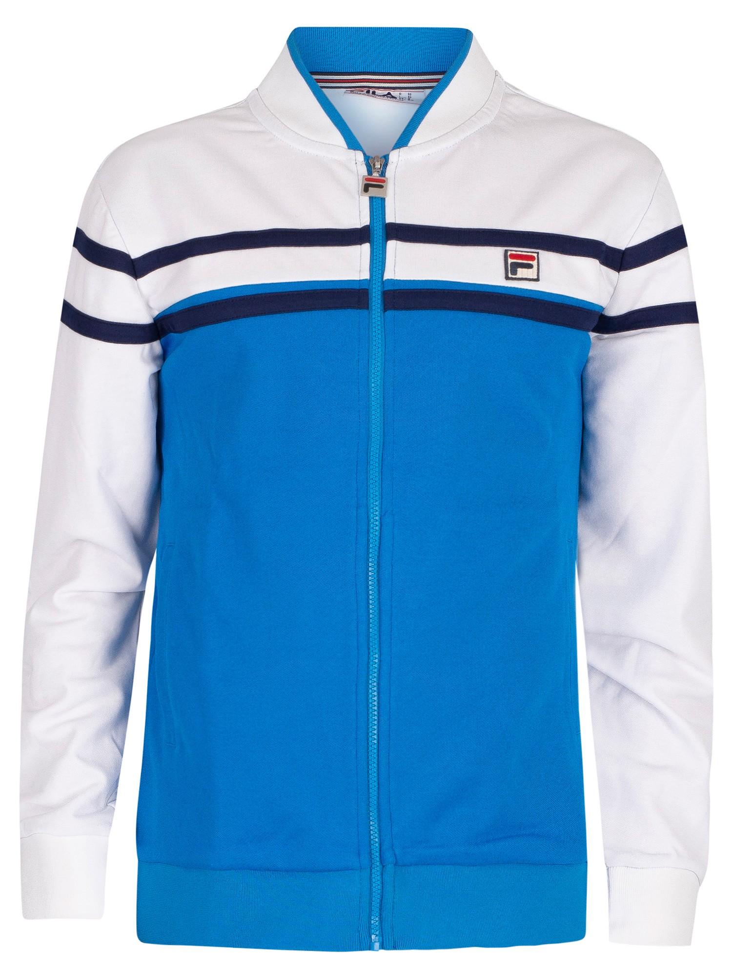 Fila Naso Chest Stripe Track Jacket Directoire BlueWhitePeacoat