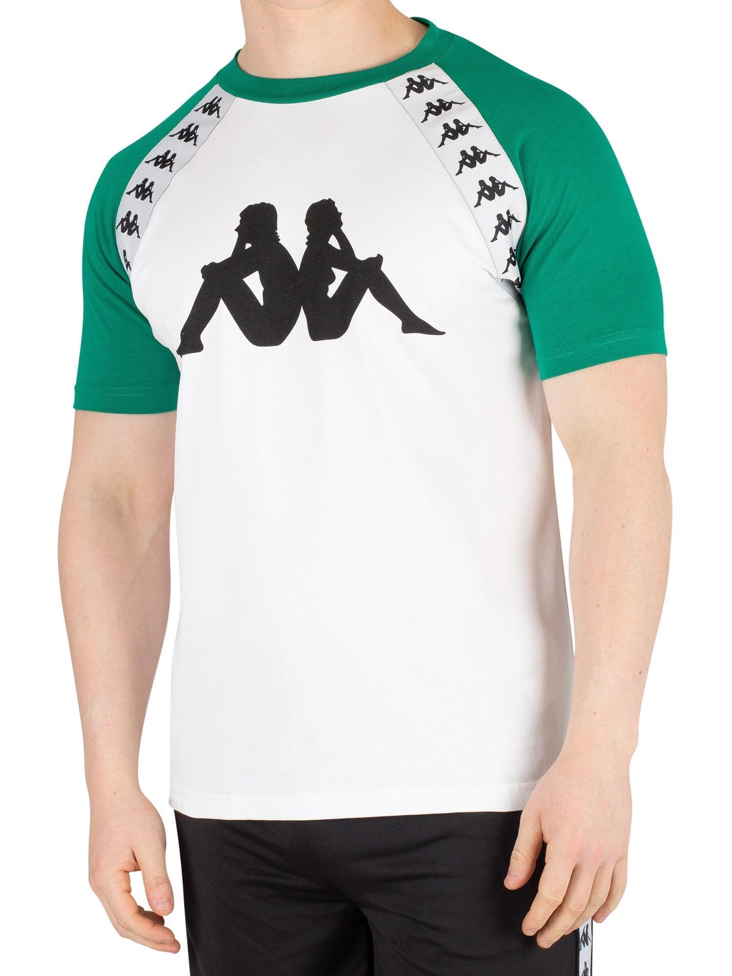 buy online 24c5d 210bc Kappa Banda Bardi T-Shirt - White/Green