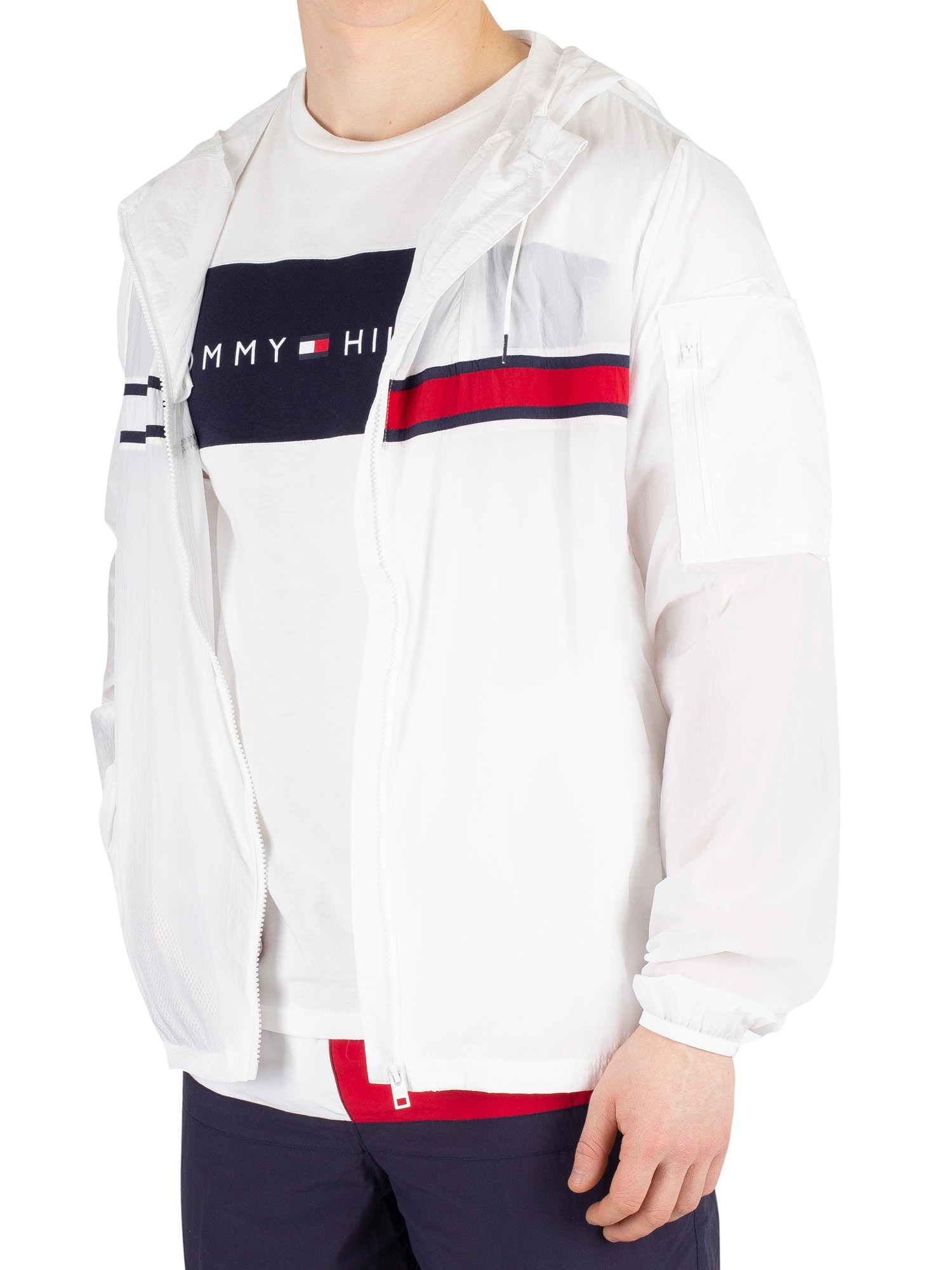 reich und großartig harmonische Farben Stufen von Details about Tommy Hilfiger Mens Wind Jacket, White- show original title