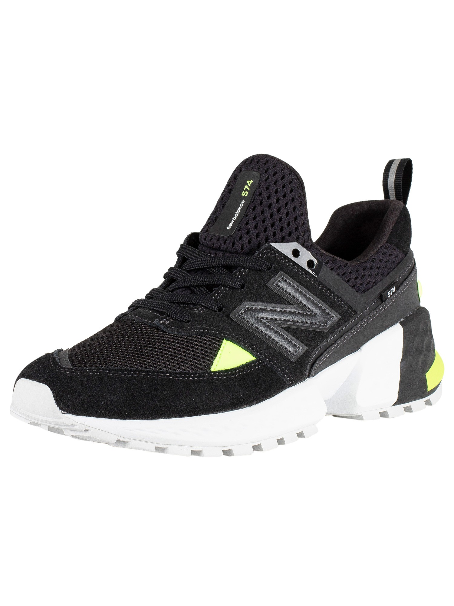 outlet store 136a9 2bd31 New Balance 574 Suede Trainers - Black