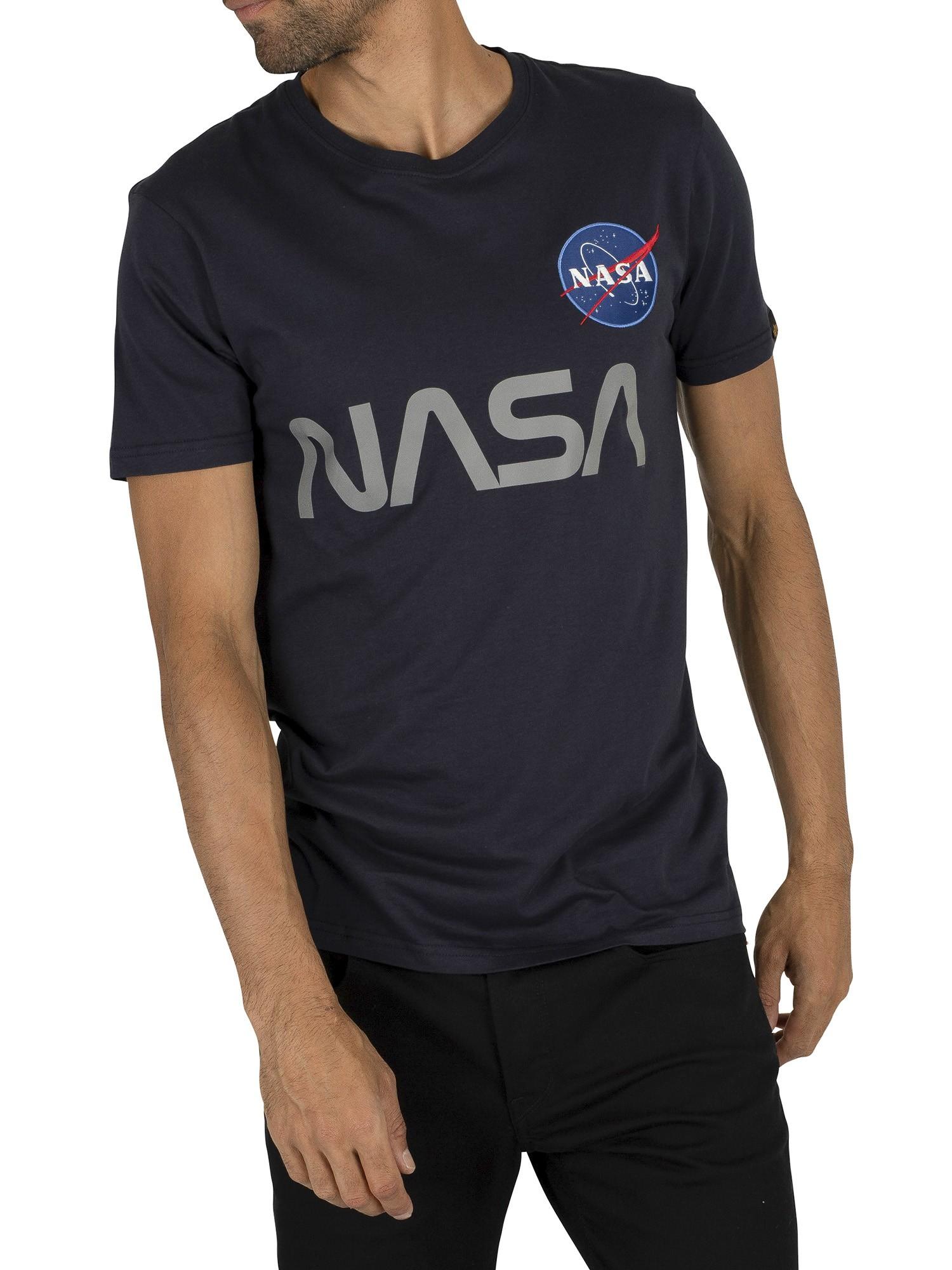 przybywa dla całej rodziny eleganckie buty Alpha Industries NASA Reflective T-Shirt - Rep Blue
