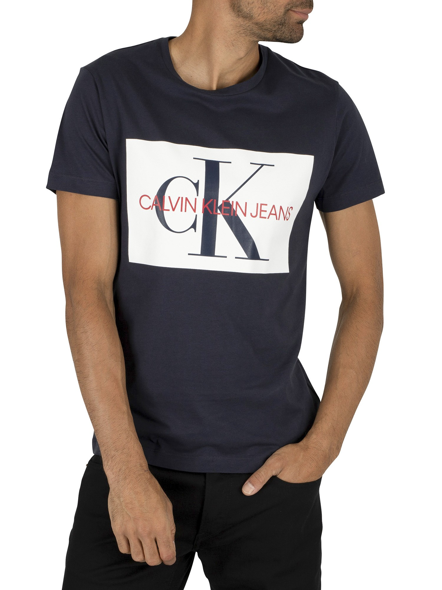 Calvin Klein Monogram Box Logo Navy