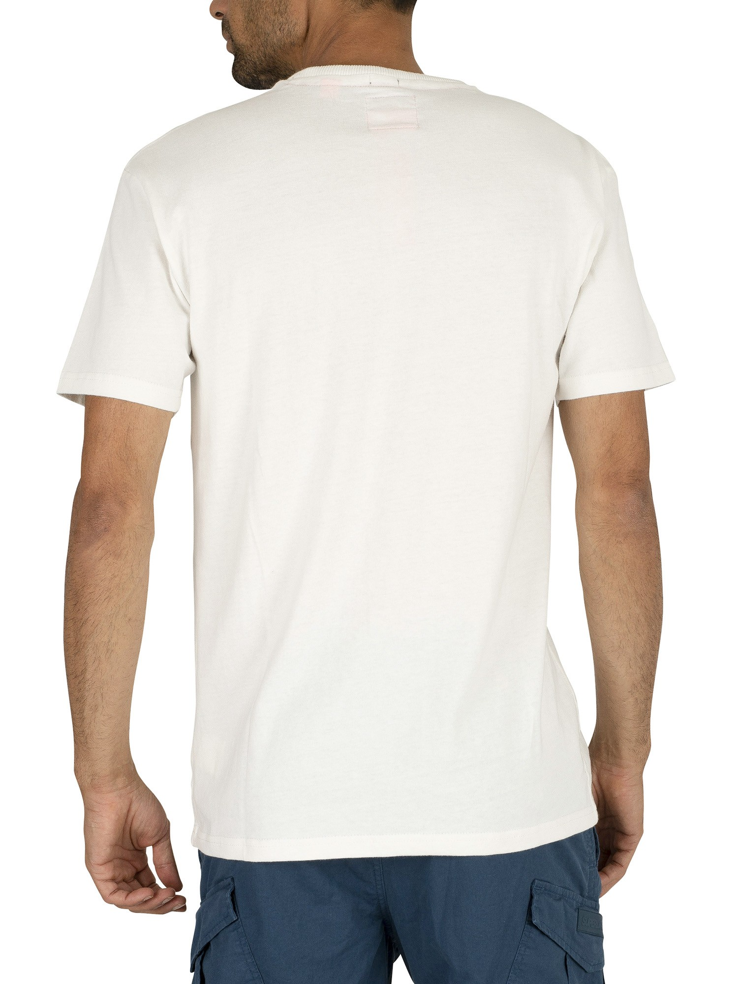Superdry International Youth Box Fit T-Shirt - Off White