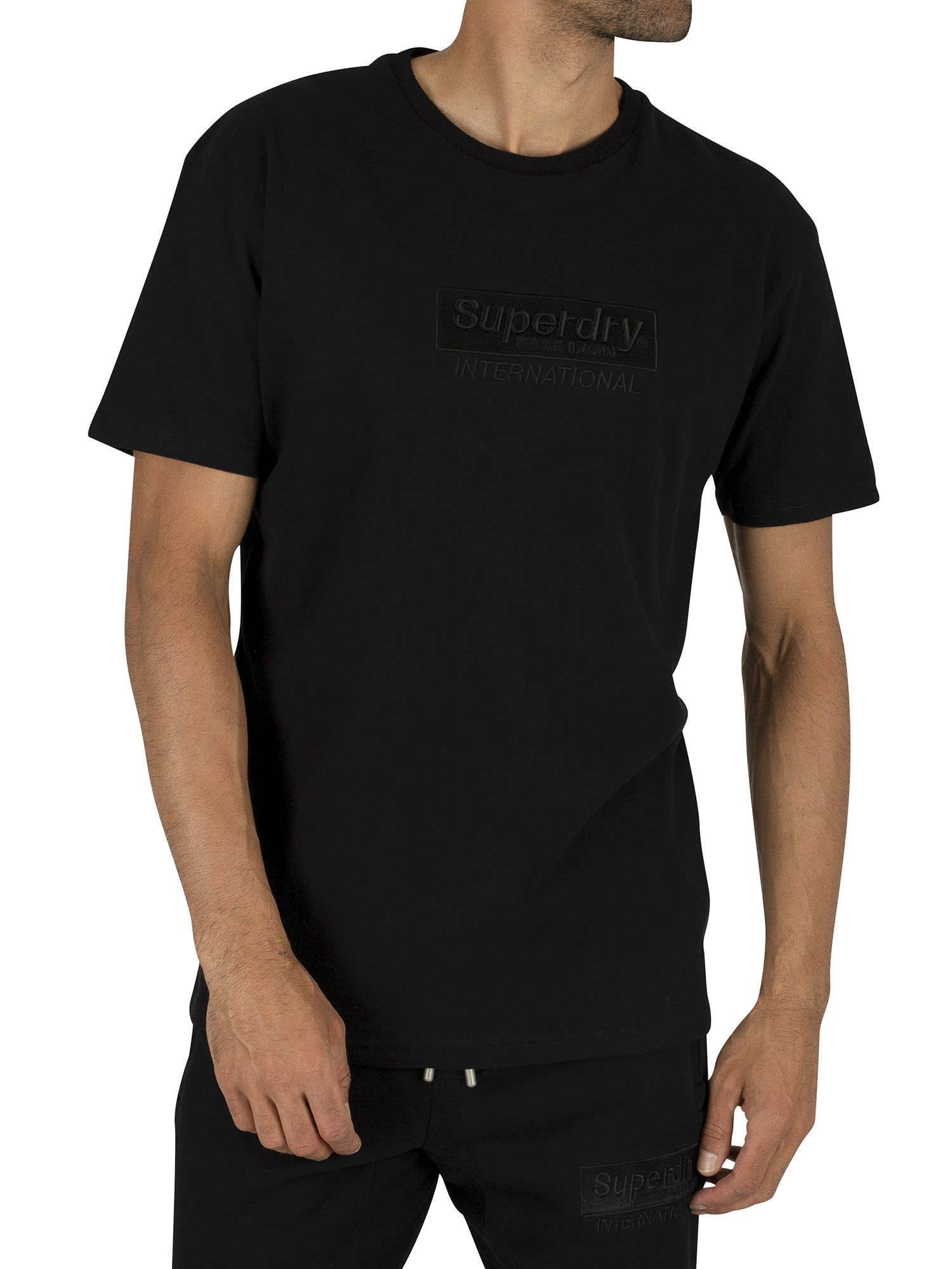 Superdry International Youth Box Fit T-Shirt - Black