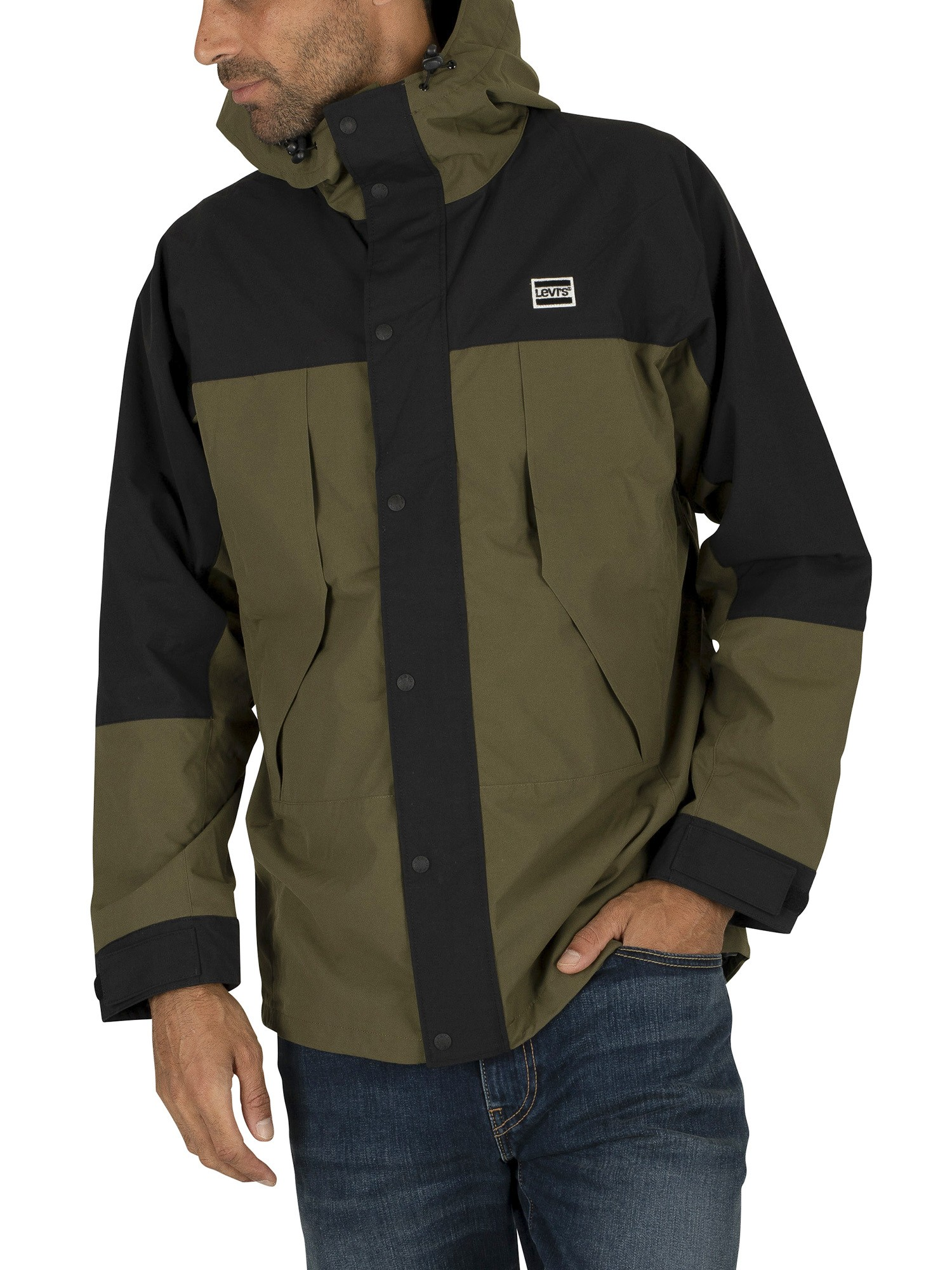Levi's Lightweight Sport Parka Jacket - Olive Night