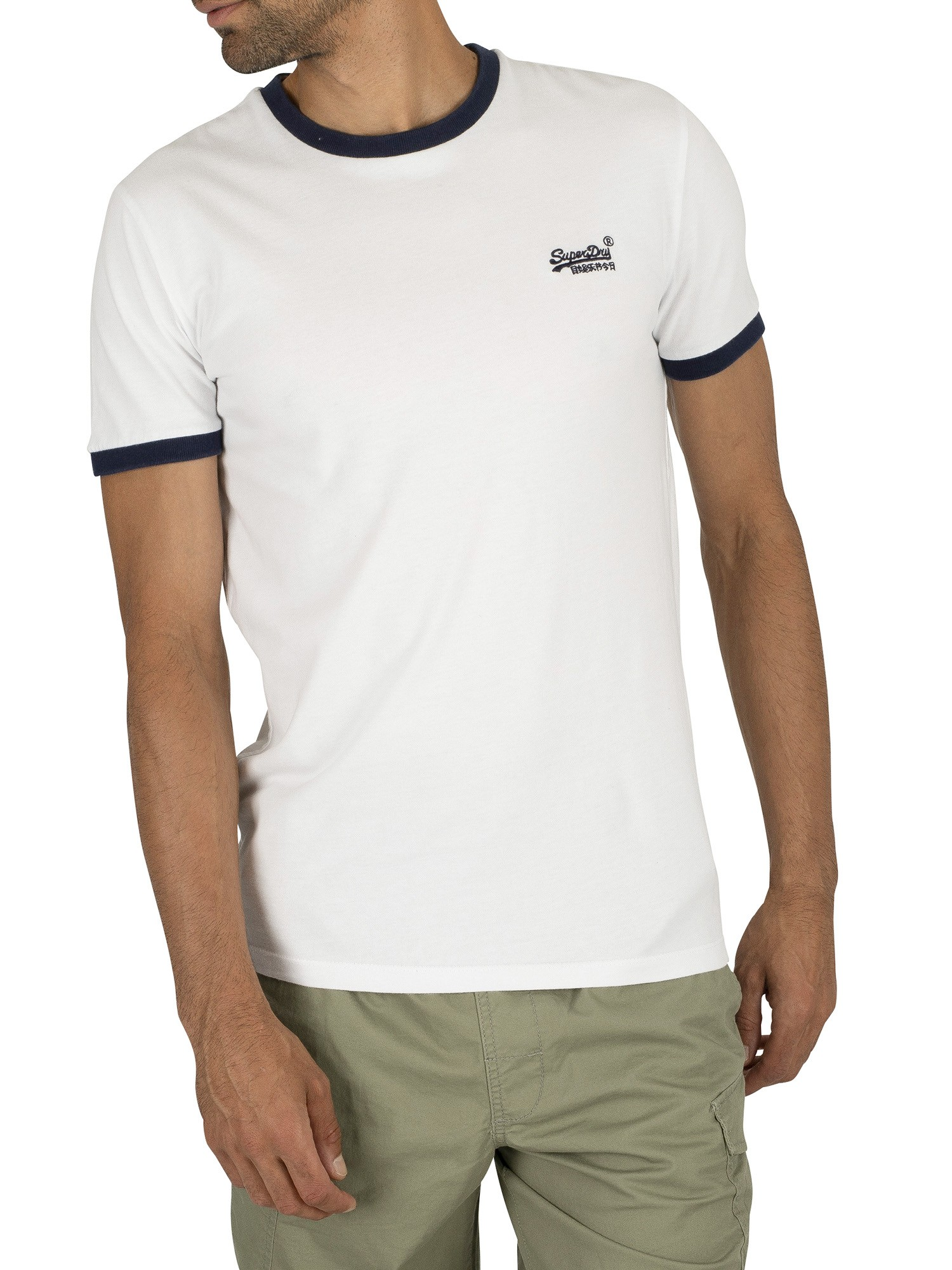 Superdry Orange Label Cali Stack T-Shirt - Optic