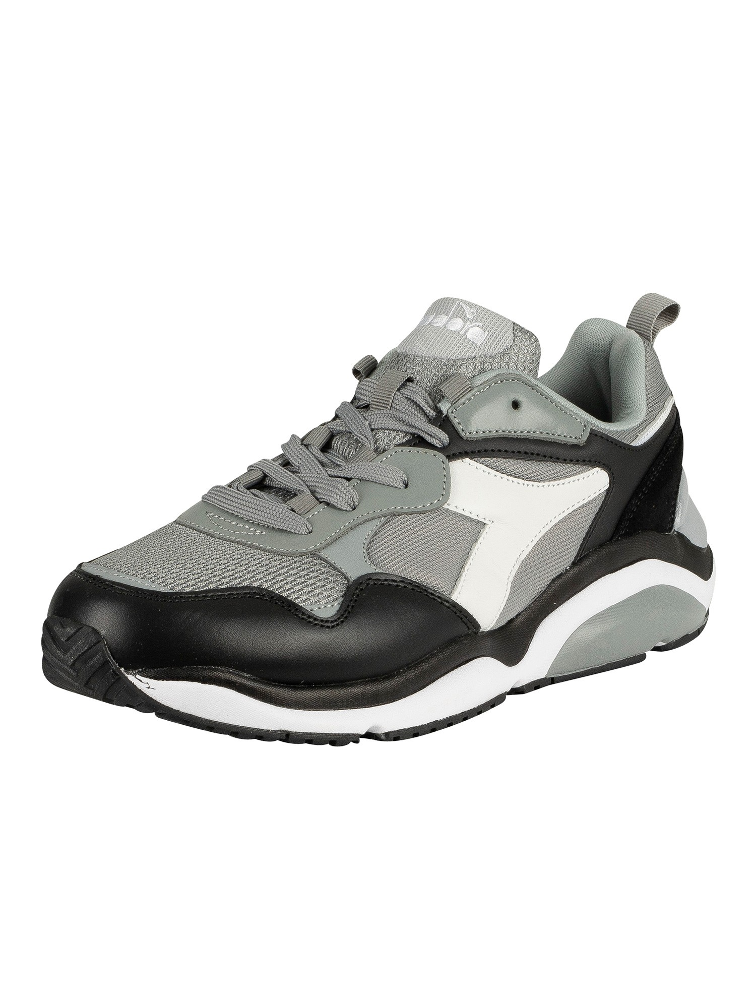 Whizz Run Leather Trainers, Grey