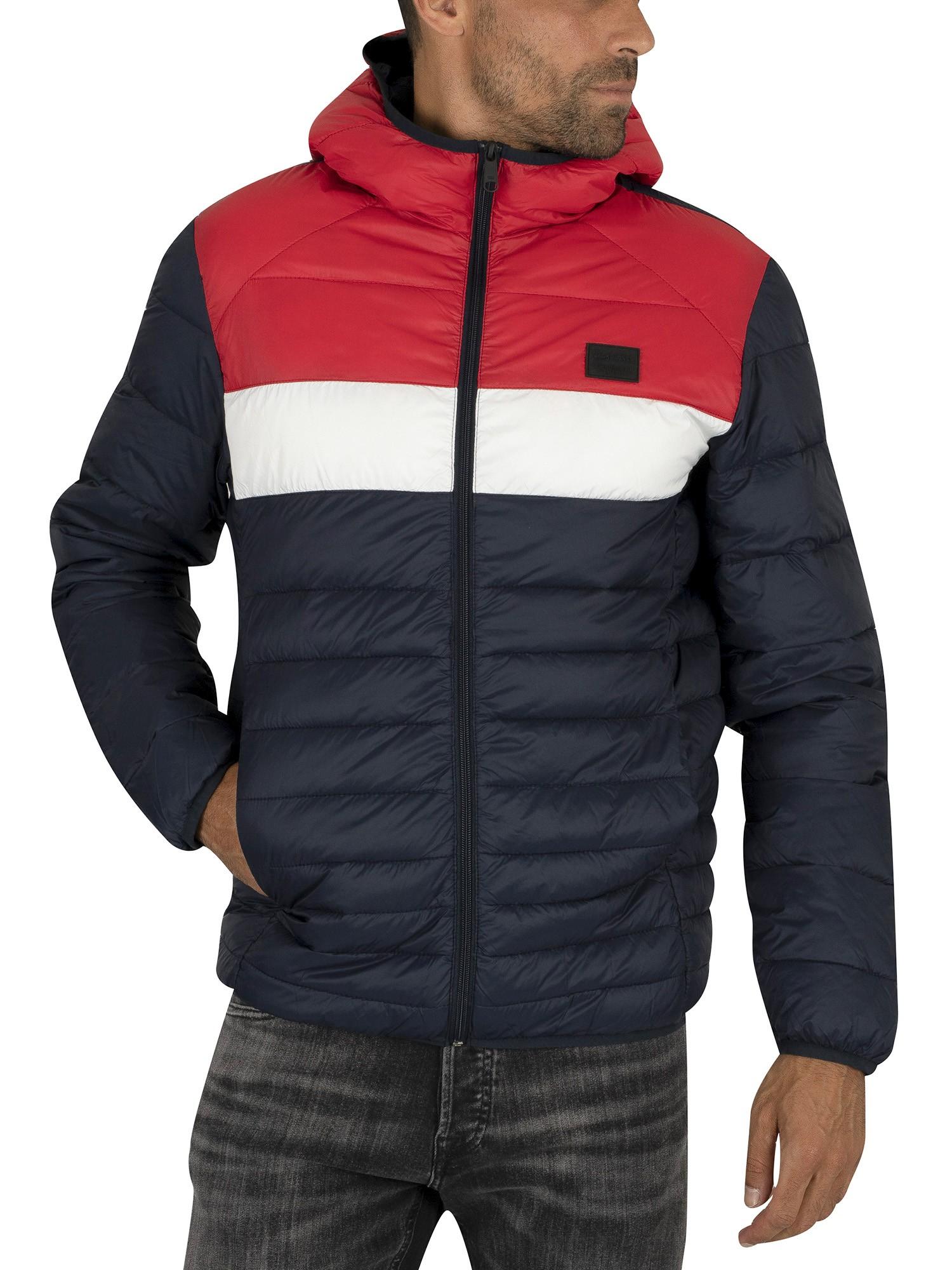 official site new arrive wholesale sales Jack & Jones Bomb Hood Puffer Jacket - Scarlet