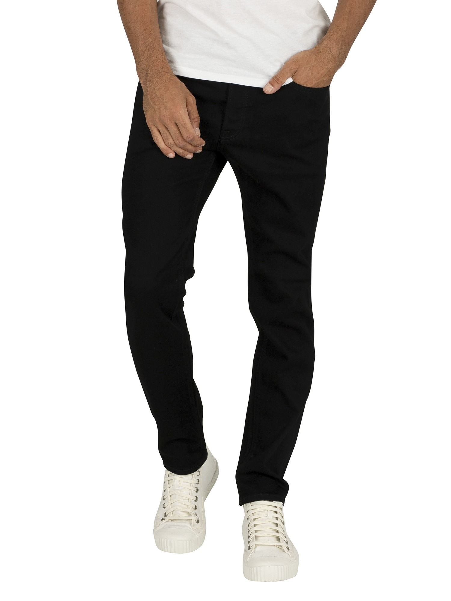 clearance prices casual shoes various styles Jack & Jones Tim Original 816 Slim Straight Jeans - Black Denim