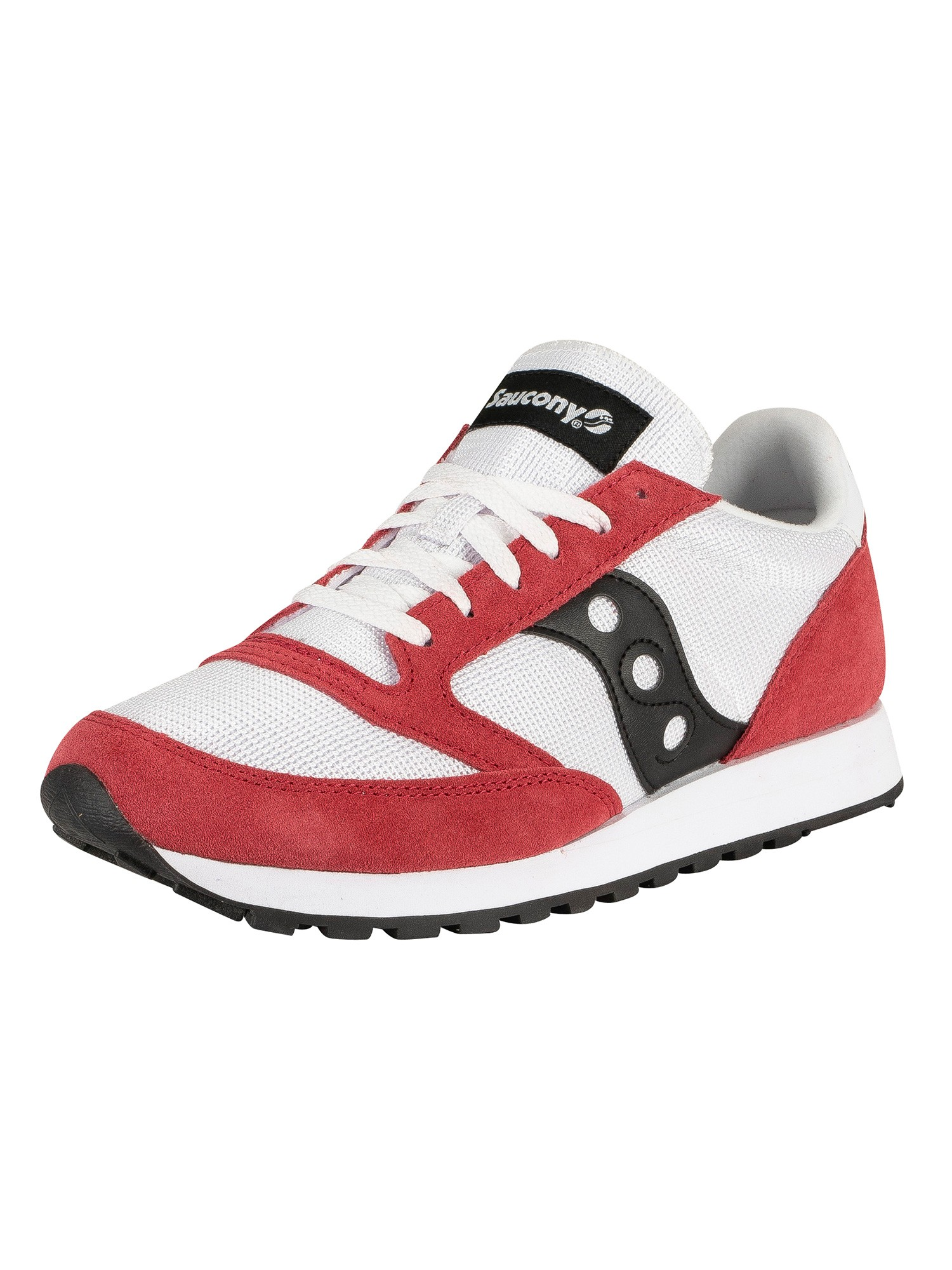 promo code b8685 c8918 Saucony Jazz Original Vintage Trainers - White/Red/Black