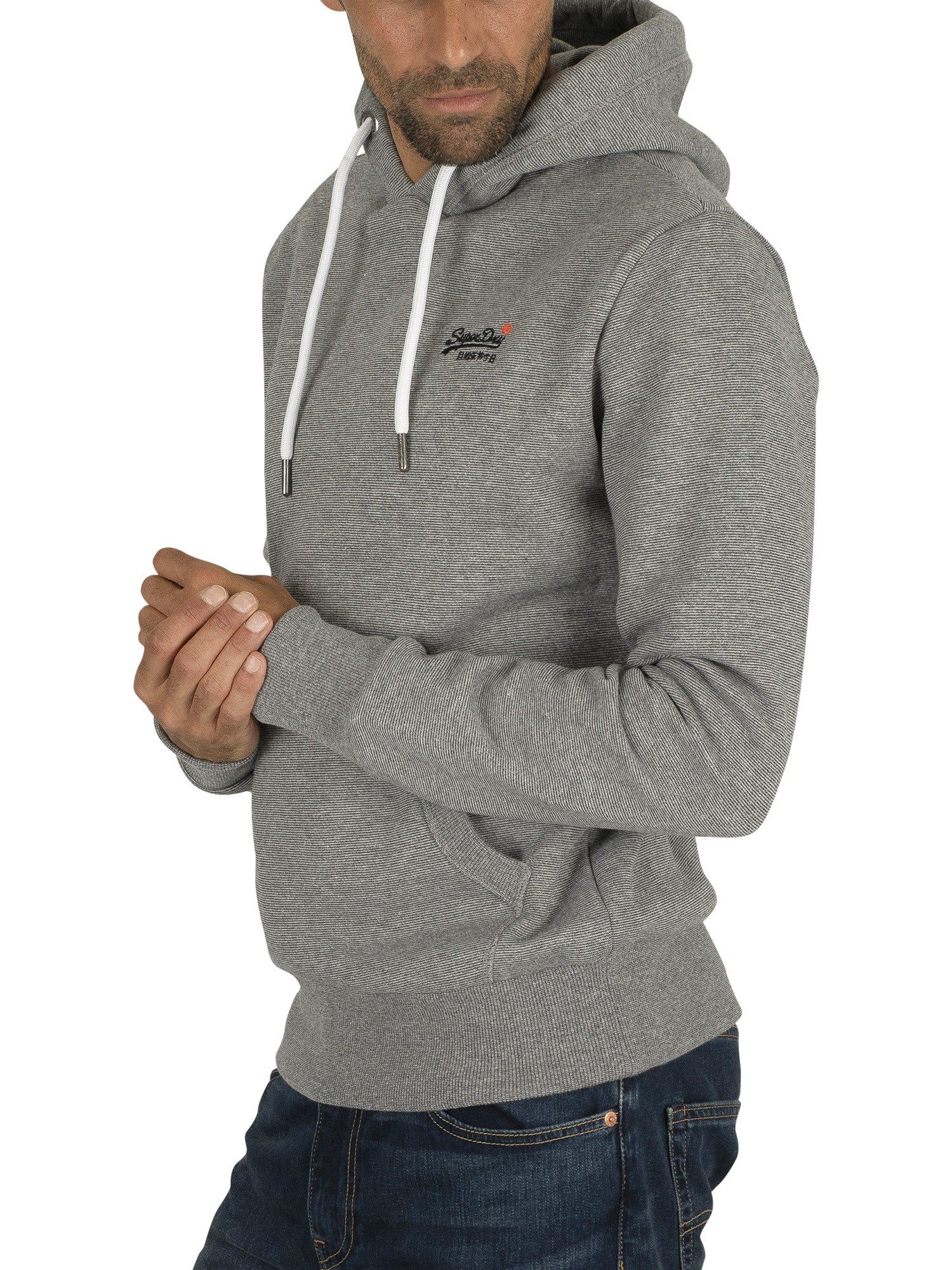finest selection 5e824 1ca3c Superdry Orange Label Classic Pullover Hoodie - Hammer Grey Feeder