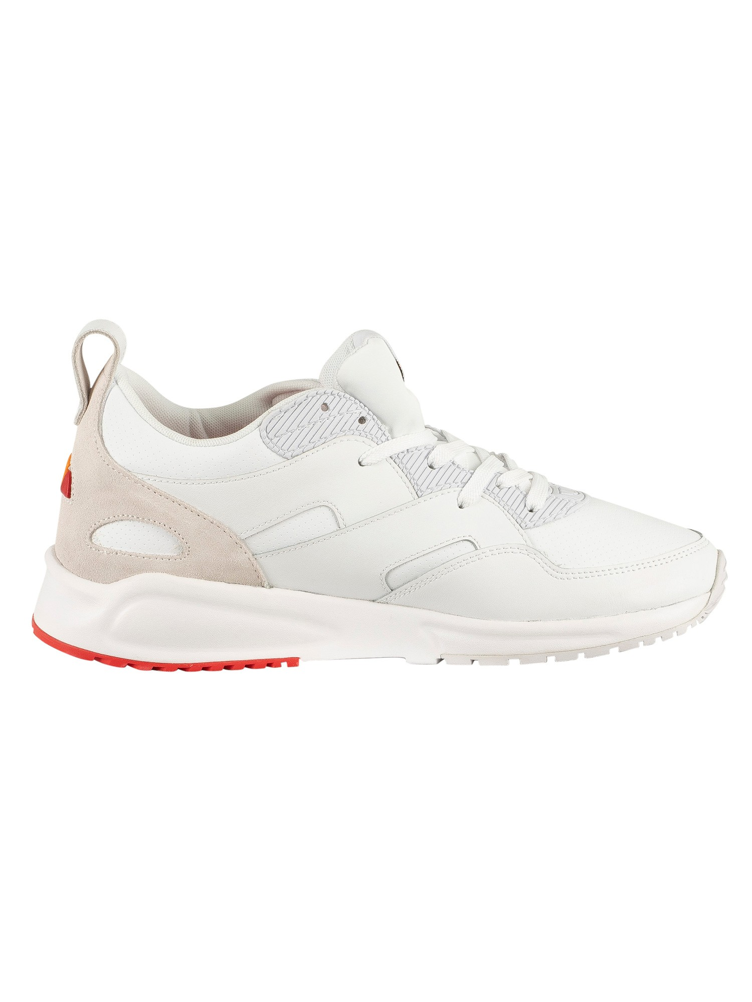 Ellesse Potenza Leather Trainers - White