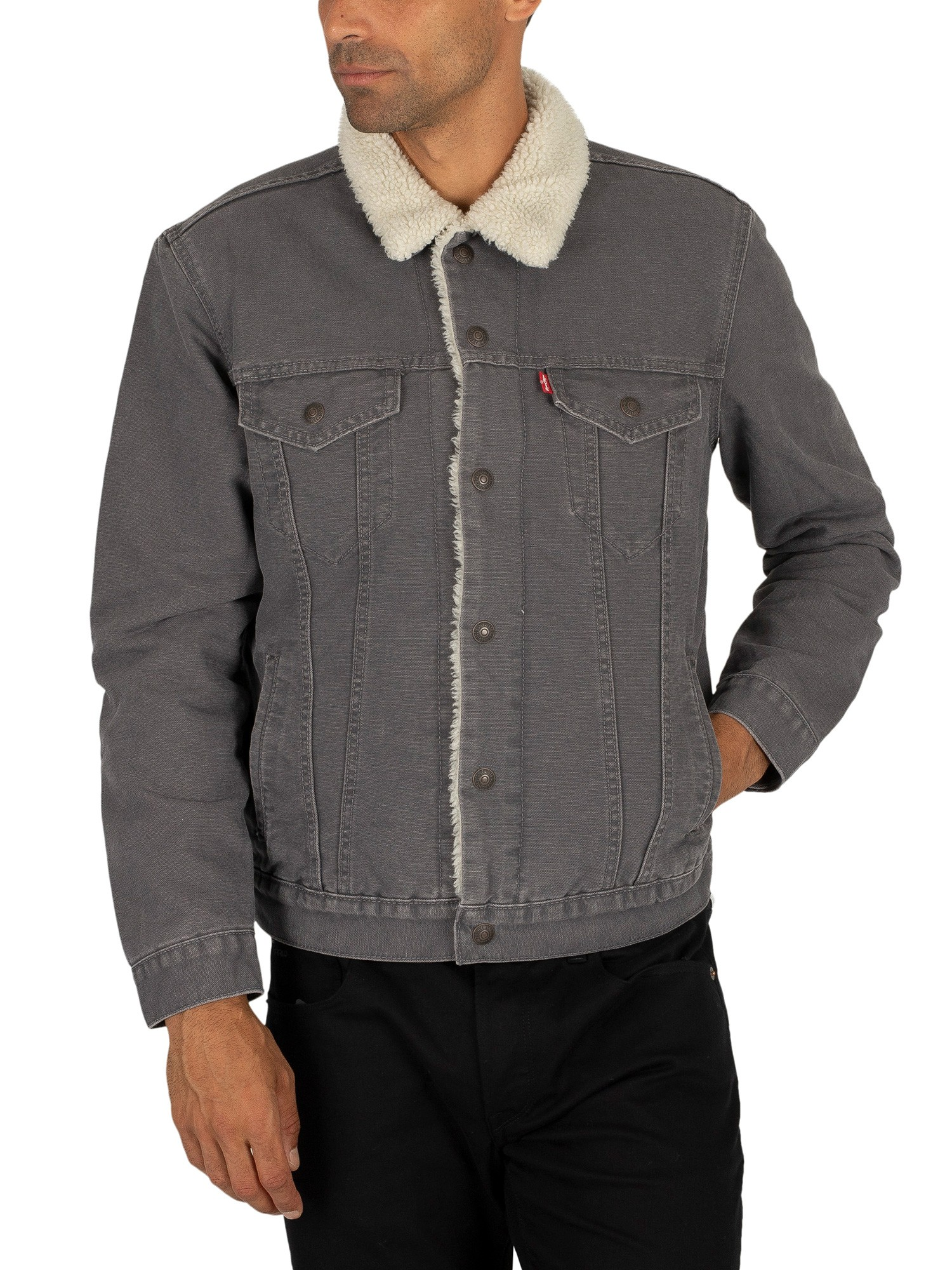 Levi's Type 3 Sherpa Trucker Jacket - Magnet Canvas