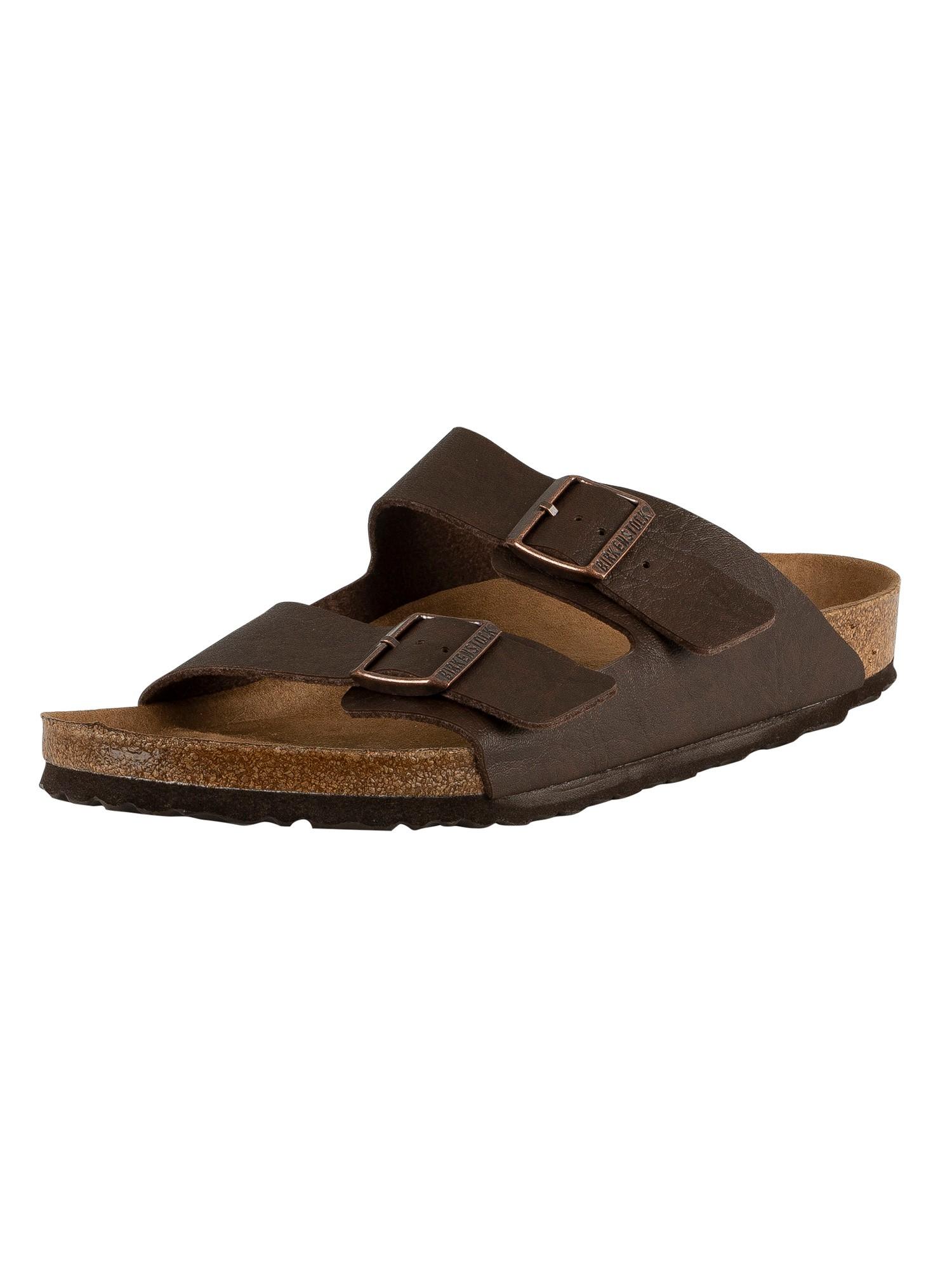 Birkenstock Mens Arizona BS Vegan Sandals, Brown   eBay