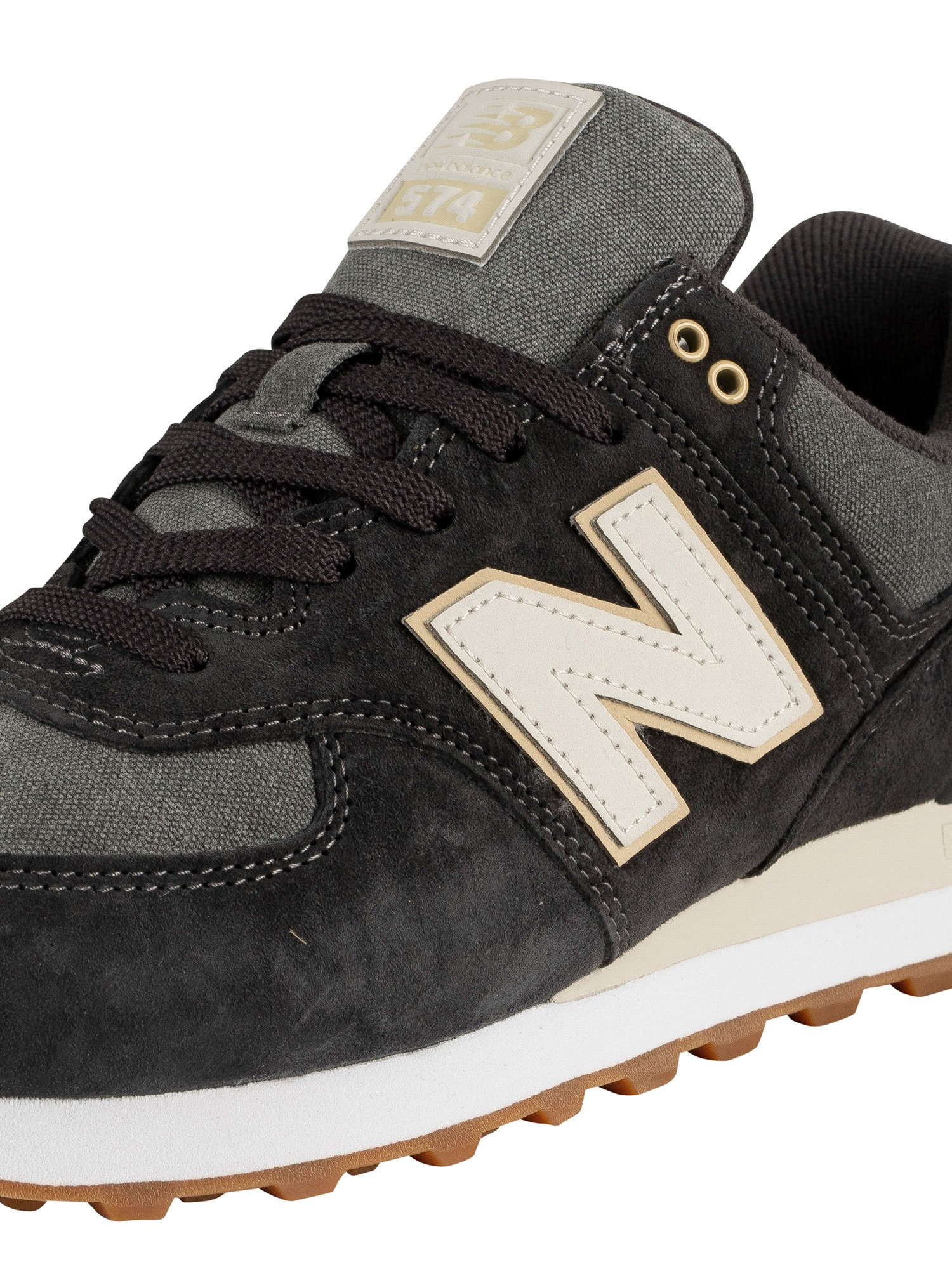 timeless design 90604 140db New Balance 574 Suede Trainers - Black/Grey
